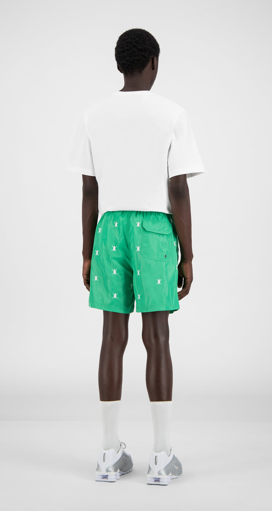 Daily Paper - Mint Green Shield Logo Swim Shorts - Men Rear