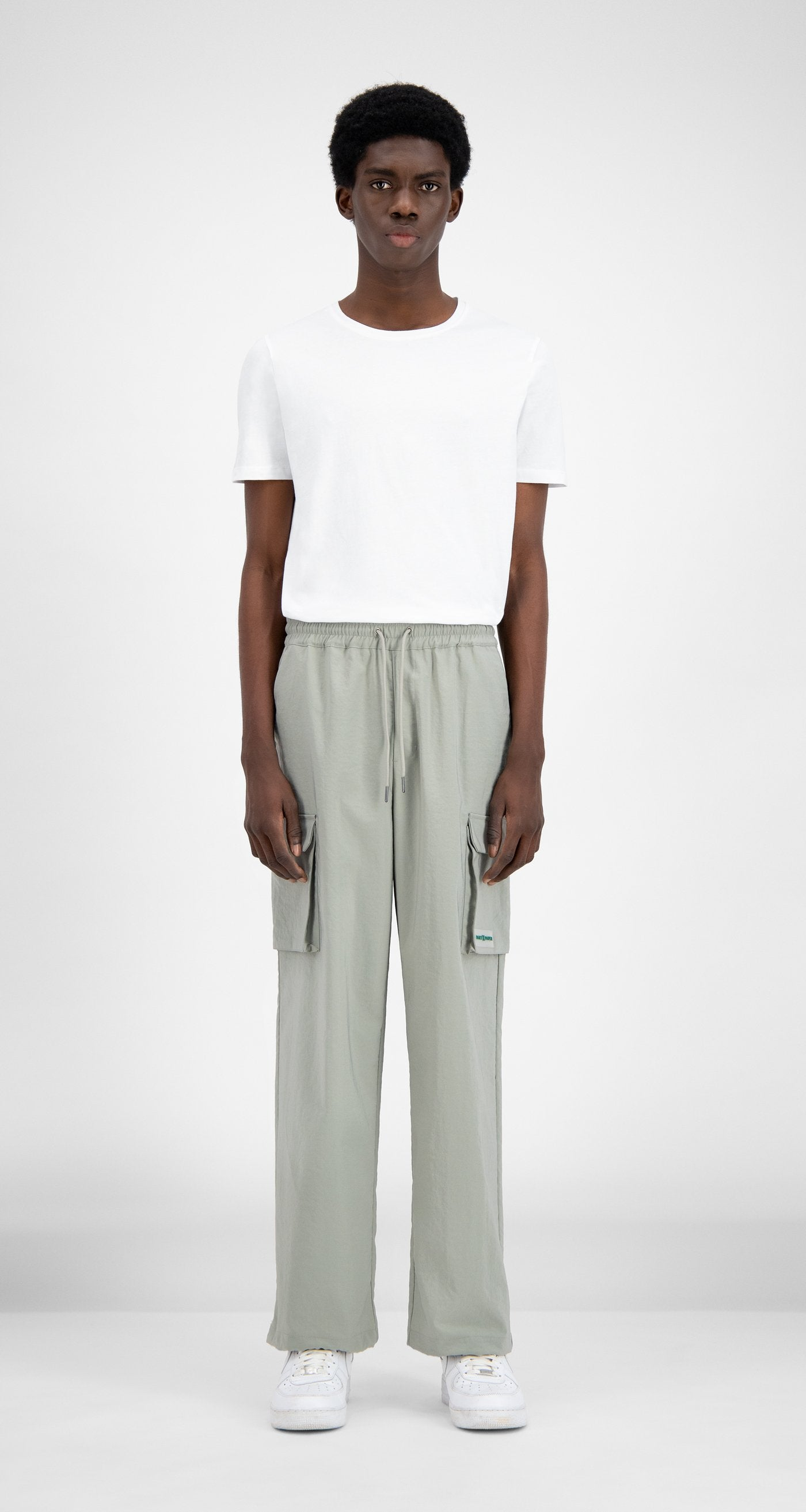 Daily Paper - Mint Green Recargo Trackpants - Men Front