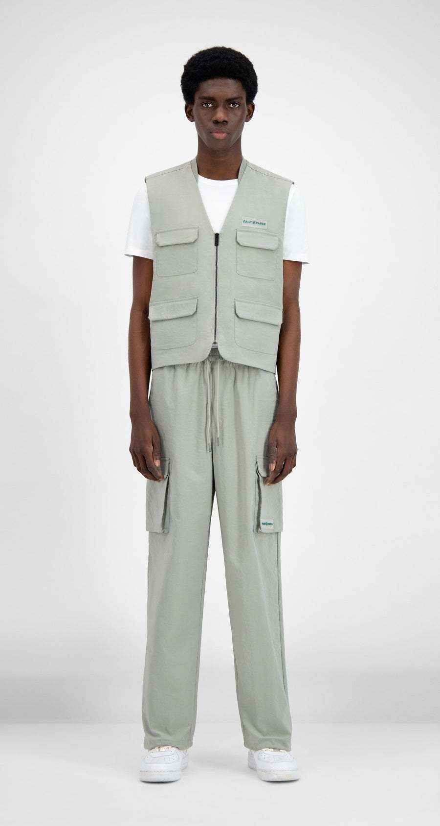 Daily Paper - Mint Green Recargo Vest - Men Front