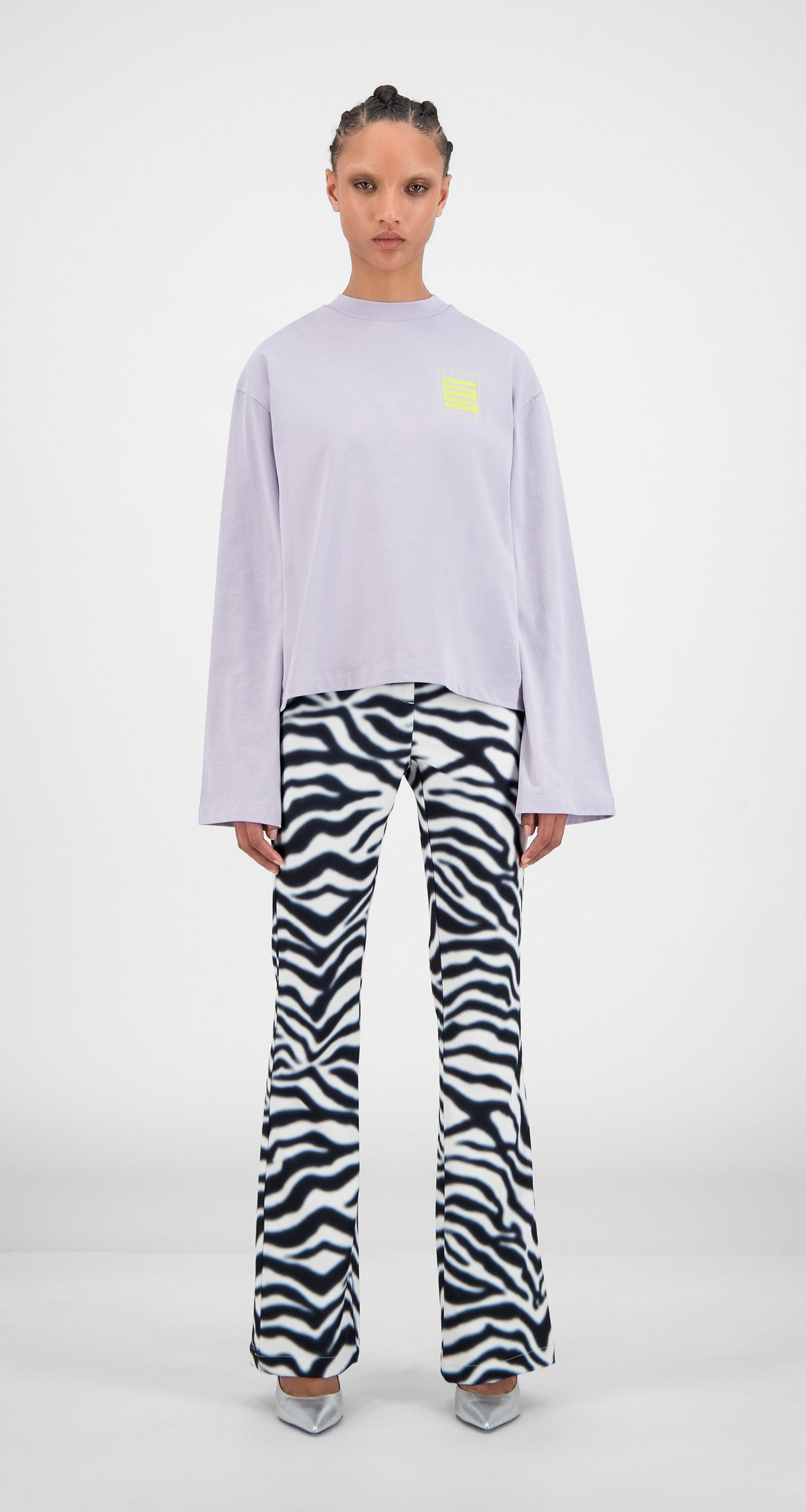 Daily Paper - Misty Lilac Hasmi Long Sleeve - Women Front