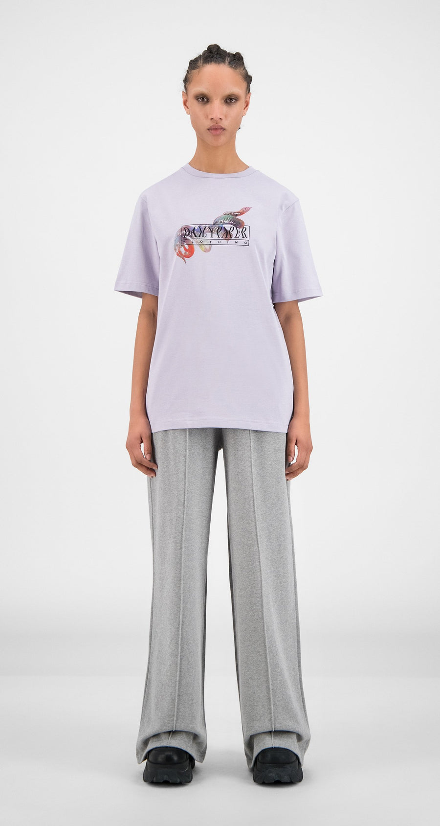Daily Paper - Misty Lilac Hormi T-Shirt - Women Front