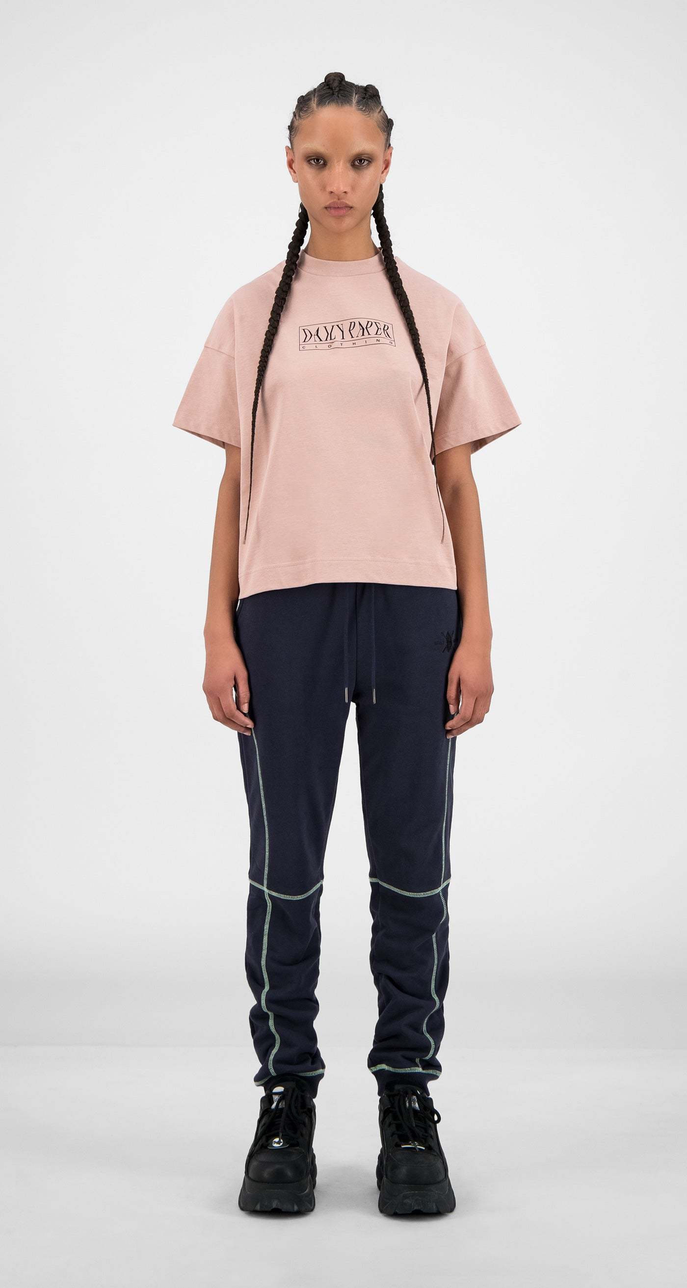 Daily Paper - Misty Rose Hicemis T-Shirt - Women Front