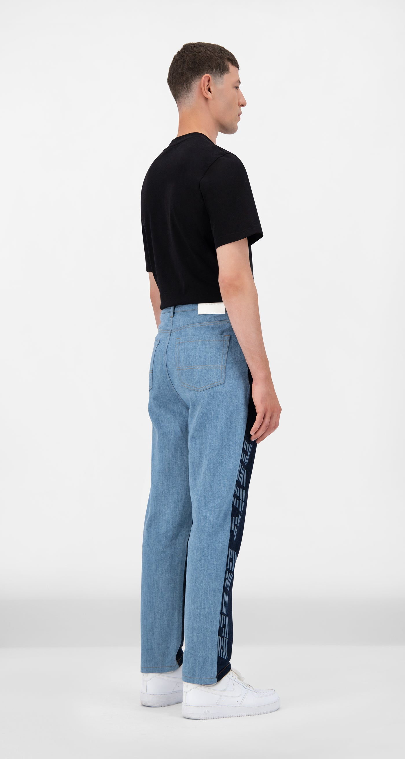 Daily Paper - Mixed Denim Josha Pants - Men Rear