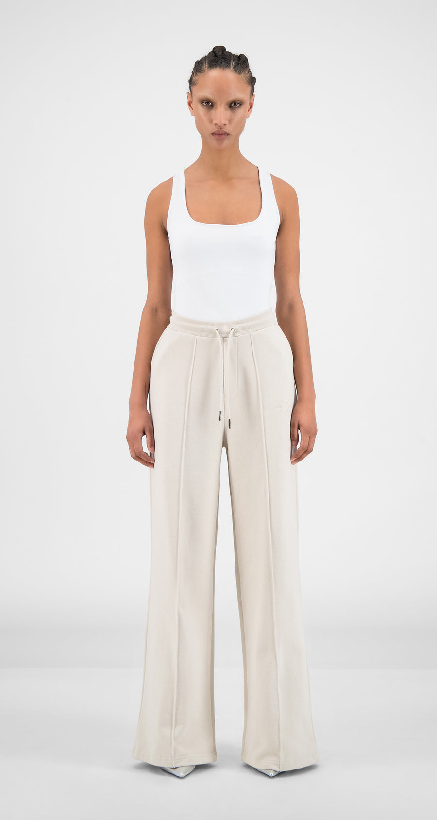 Daily Paper - Moonbeam Beige Hifa Pants - Women Front
