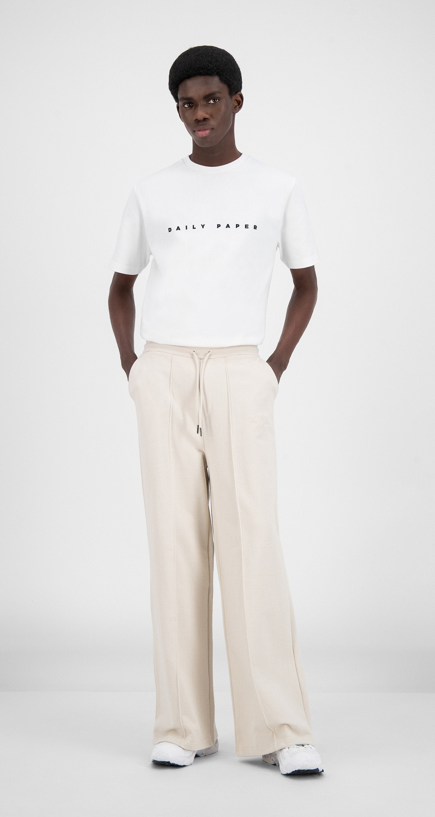 Daily Paper - Moonbeam Beige Hifa Pants - Men Front