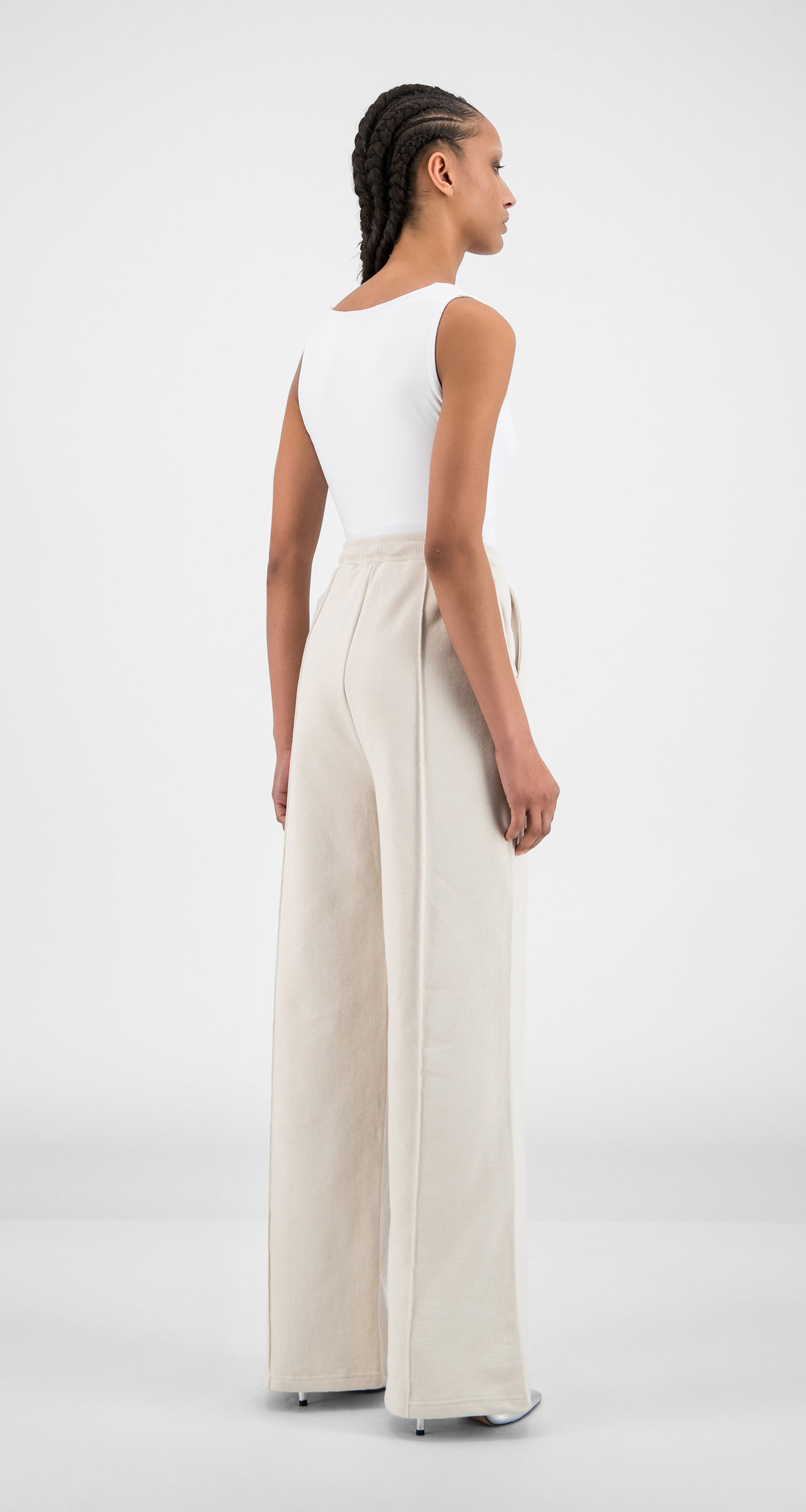 Daily Paper - Moonbeam Beige Hifa Pants - Women Rear