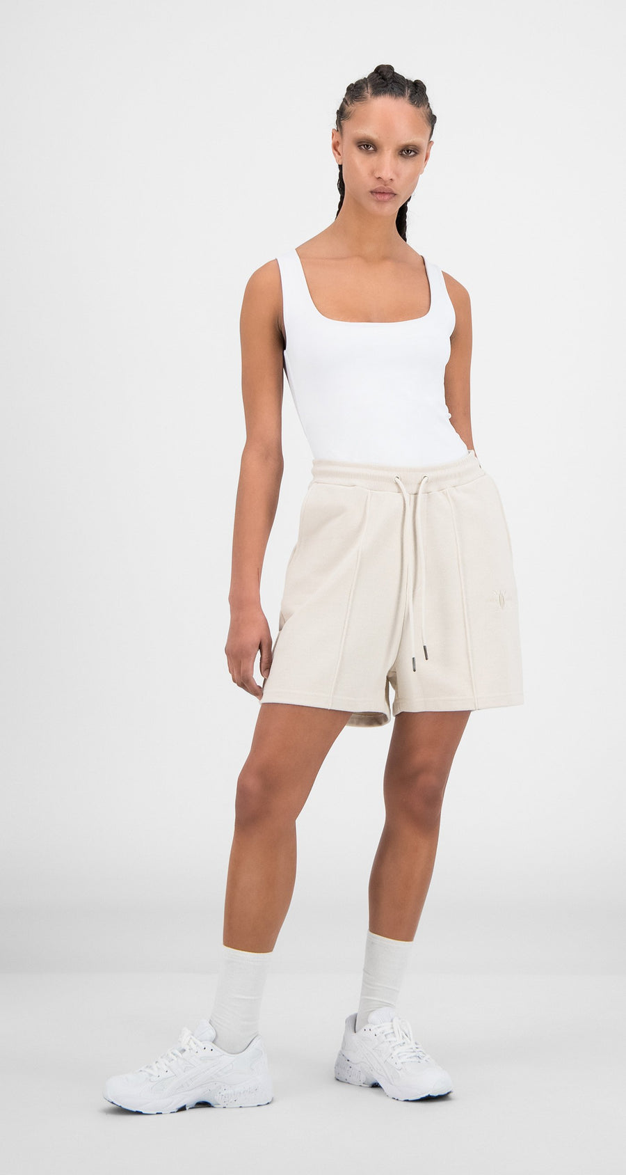 Daily Paper - Moonbeam Beige Hifa Shorts - Women Front