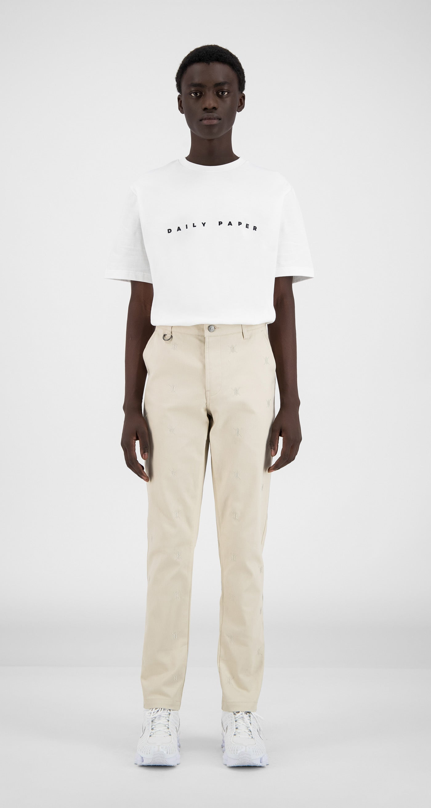 Daily Paper - Moonbeam Beige Kenya Pants - Men Front