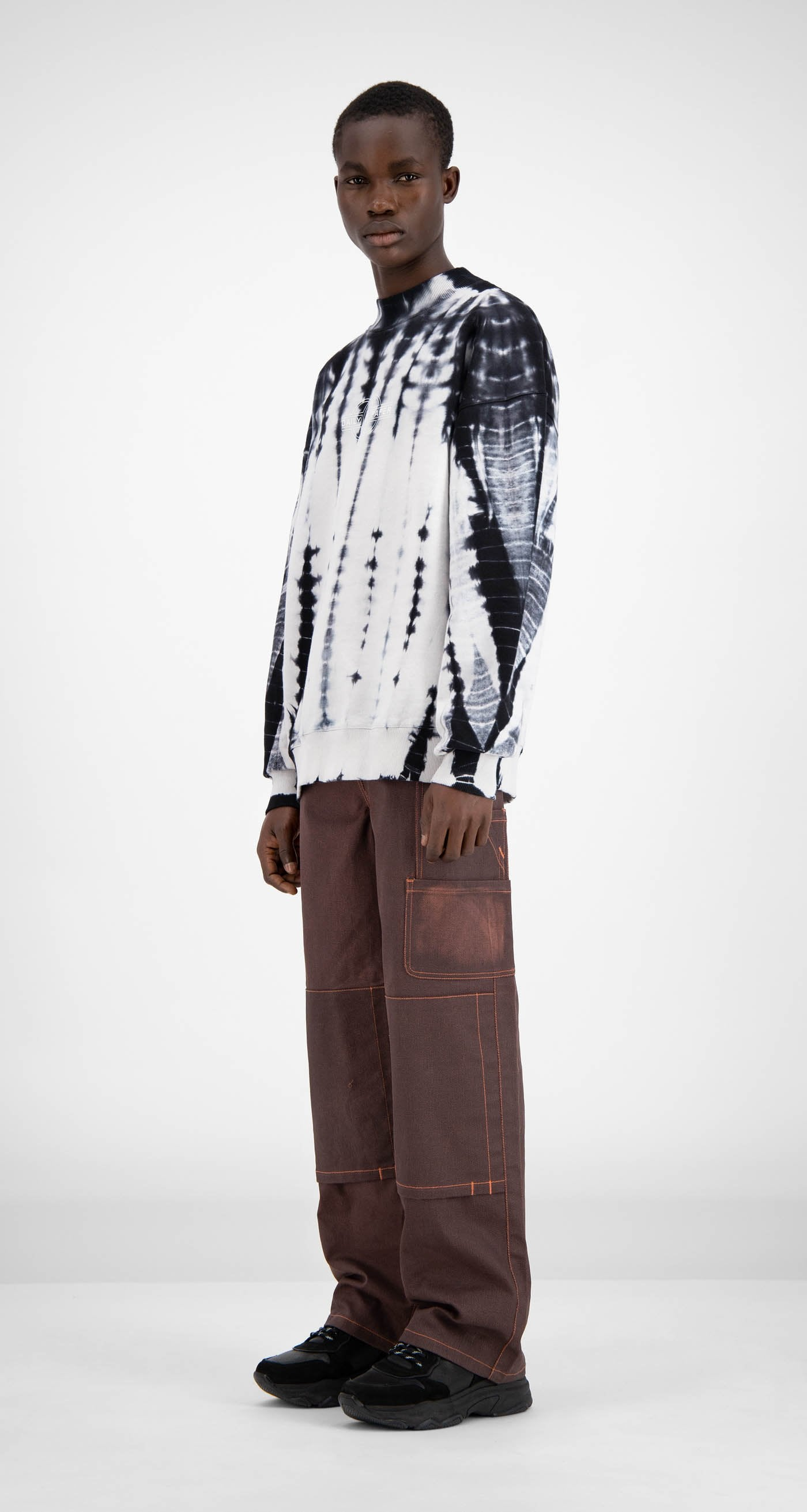 Daily Paper - Black Shibori Hershi Sweater - Men