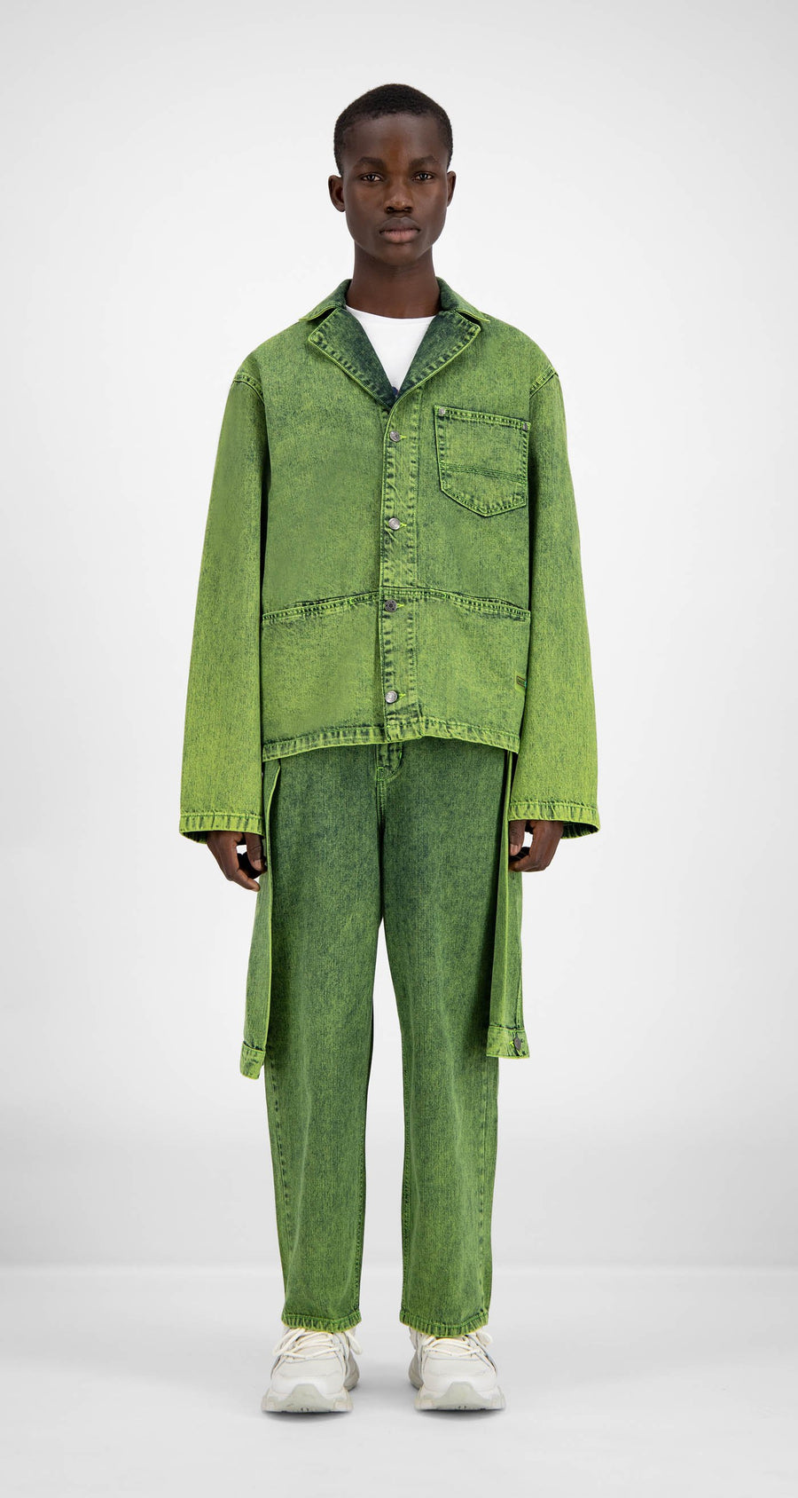 Daily Paper - Green Denim Hafi Jacket - Men Front