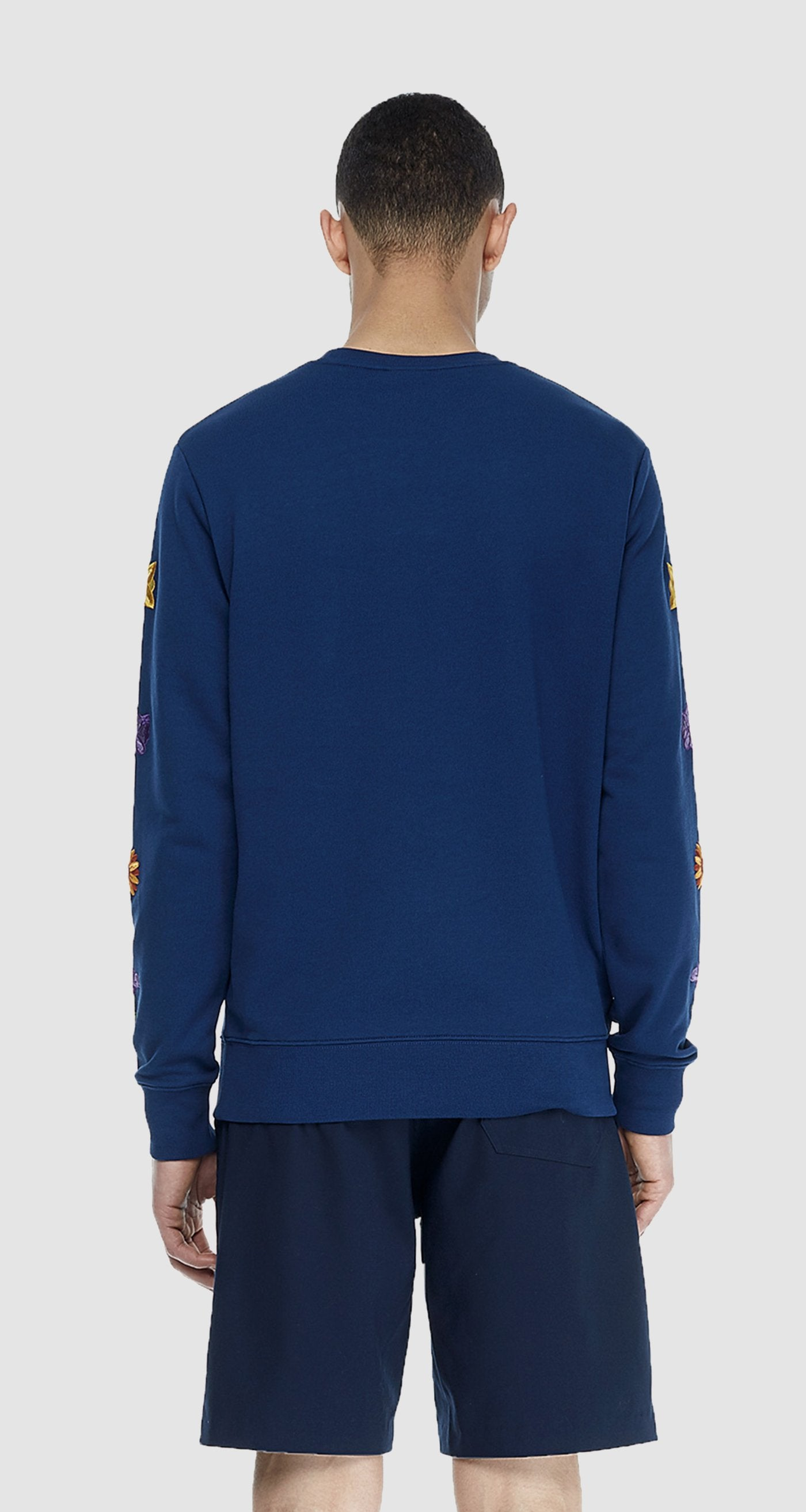 Navy Flower Sweater