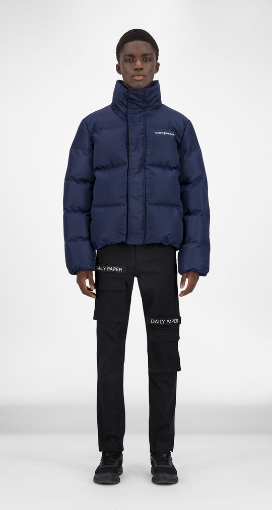 Daily Paper - Navy Puffer Jacket Men Front
