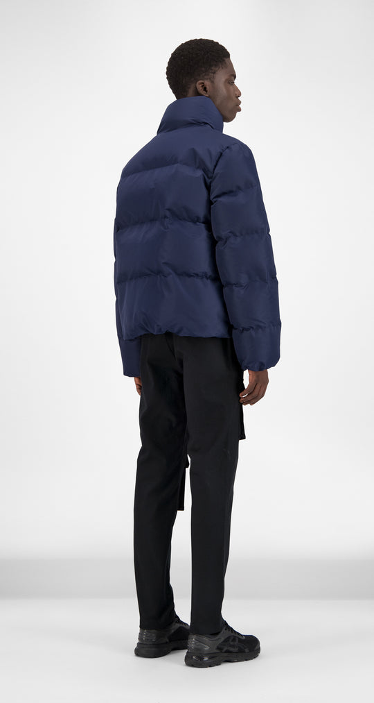 Daily Paper - Navy Puffer Jacket Men Rear