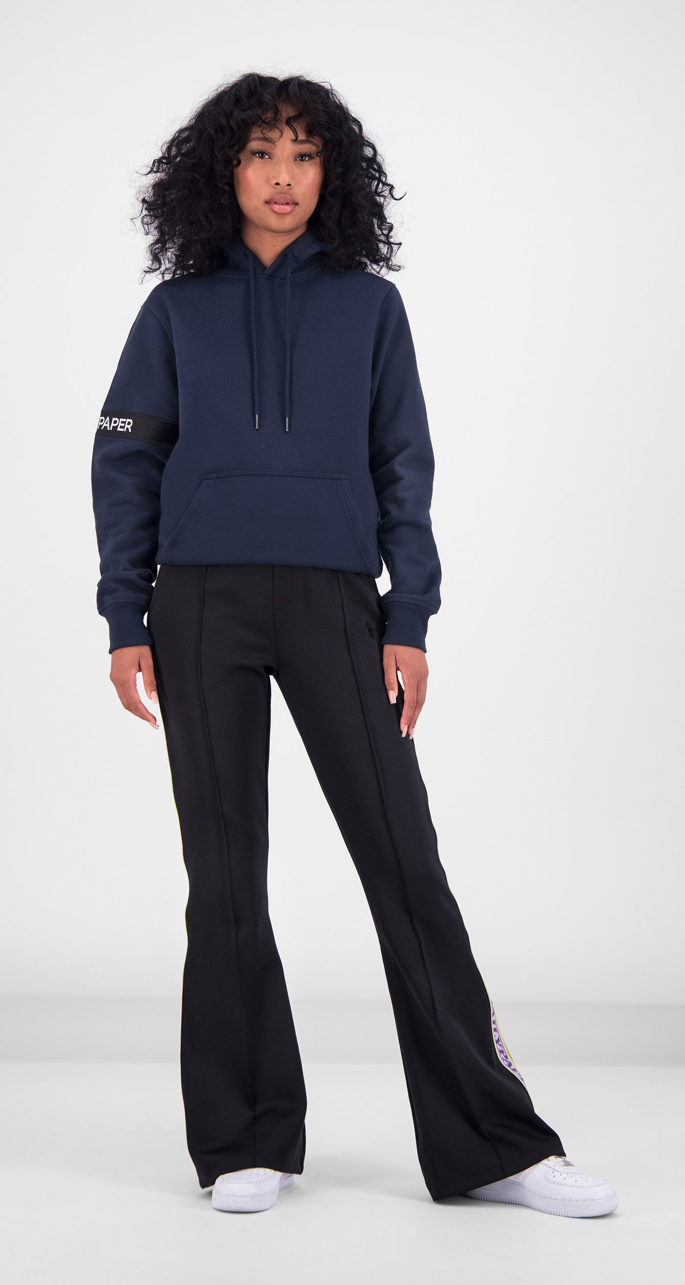 Daily Paper - Navy Captain Hoody Women Front