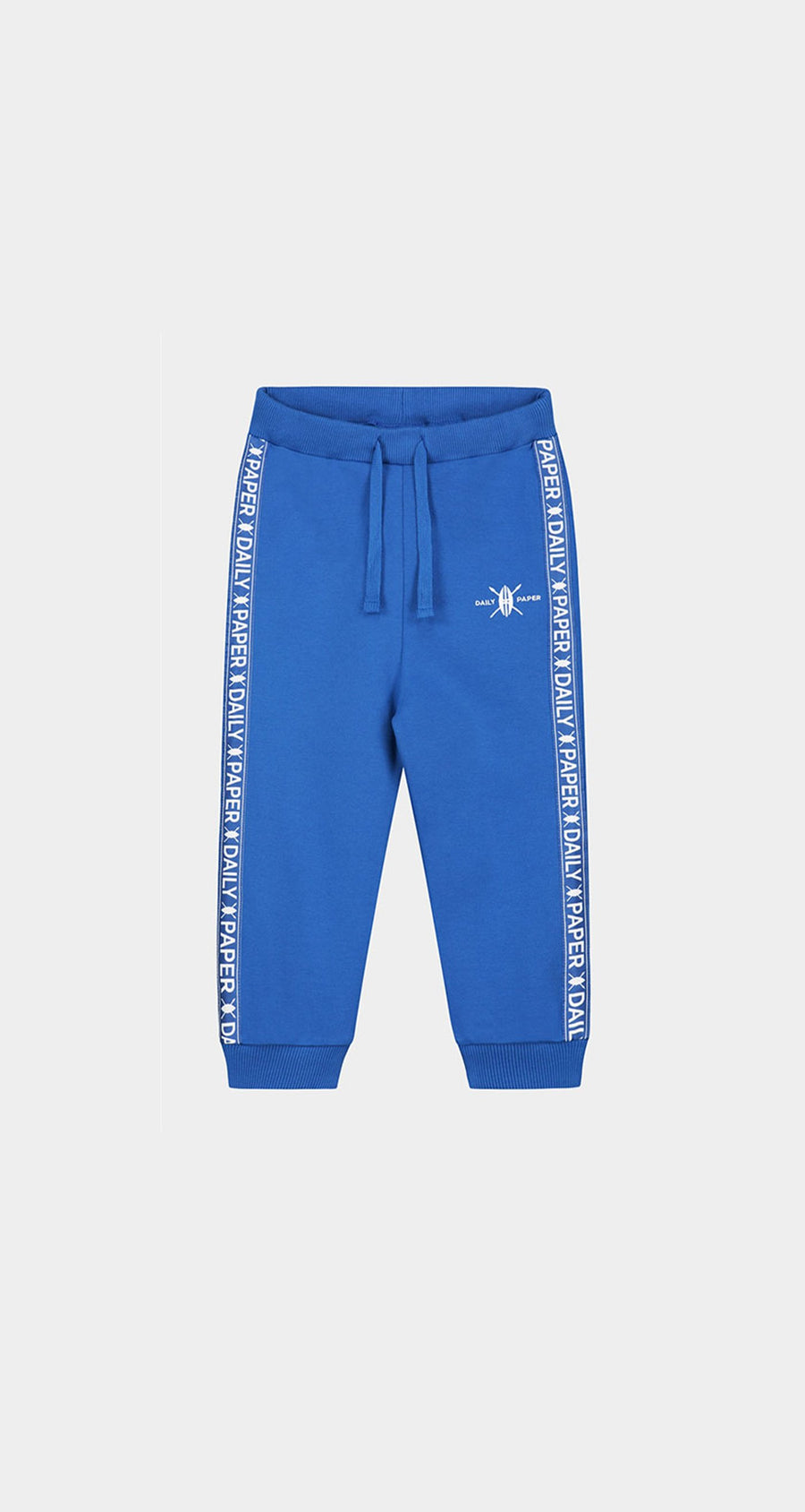 Daily Paper - Olympian Blue Kids Tape Logo Track Pants Front