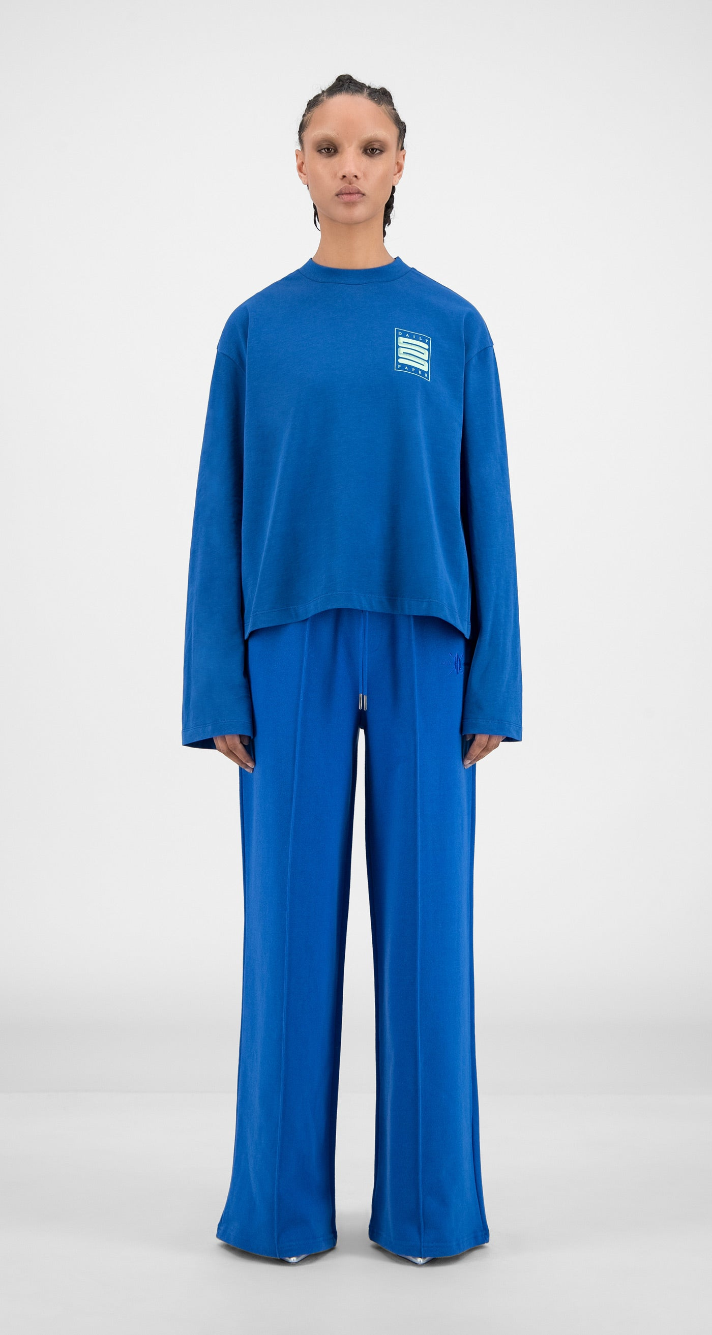 Daily Paper - Olympian Blue Hasoly Long Sleeve - Women Front