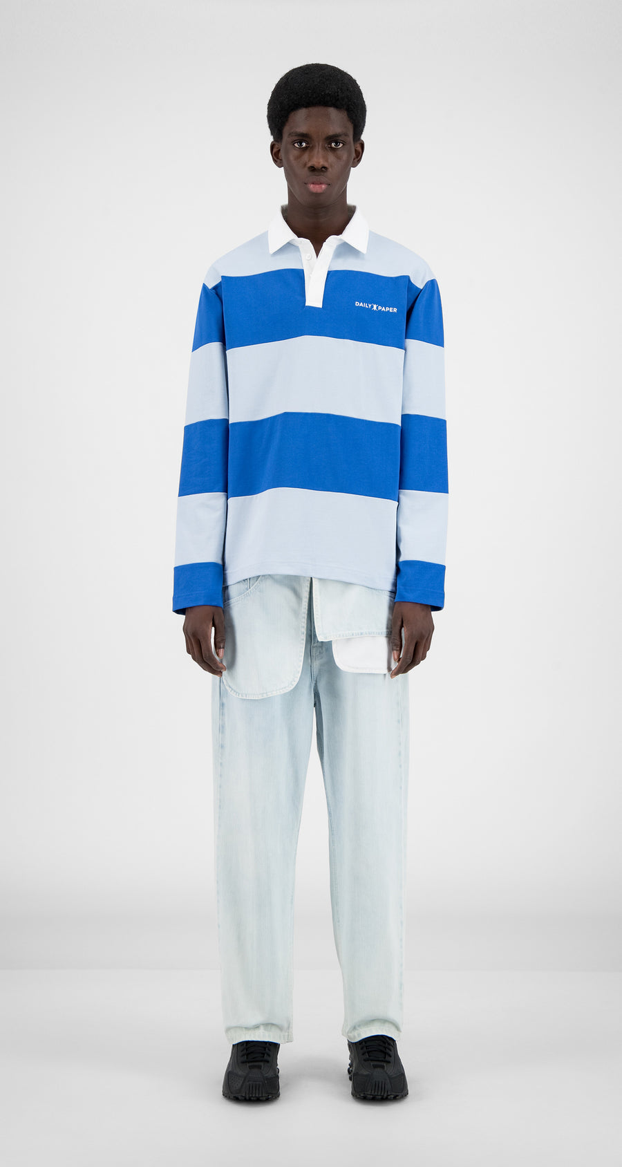 Daily Paper - Olympian Blue Stripe Apolo Long Sleeve - Men Front
