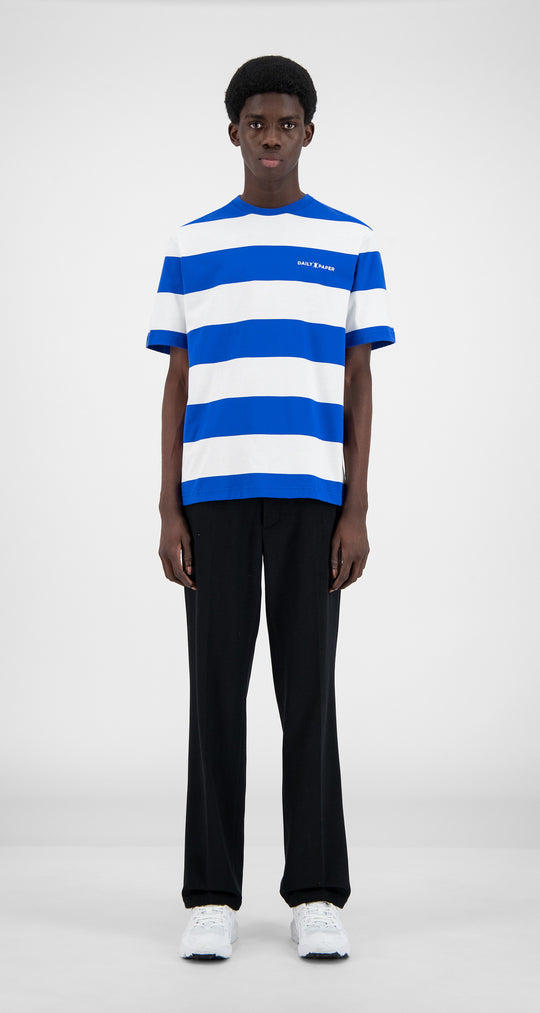 Daily Paper - Olympian Blue Striped T-Shirt  - Men Front