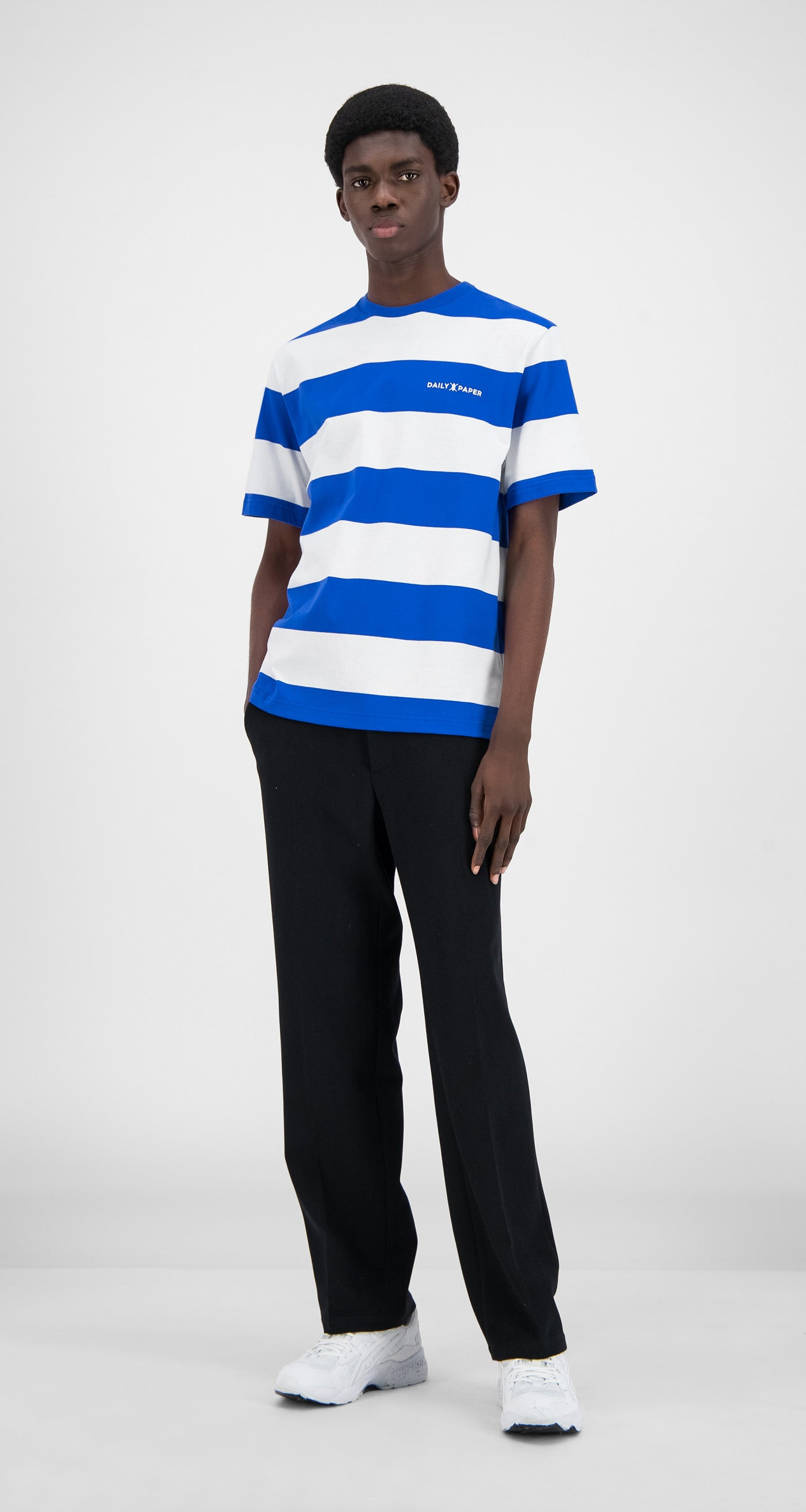Daily Paper - Olympian Blue Striped T-Shirt  - Men