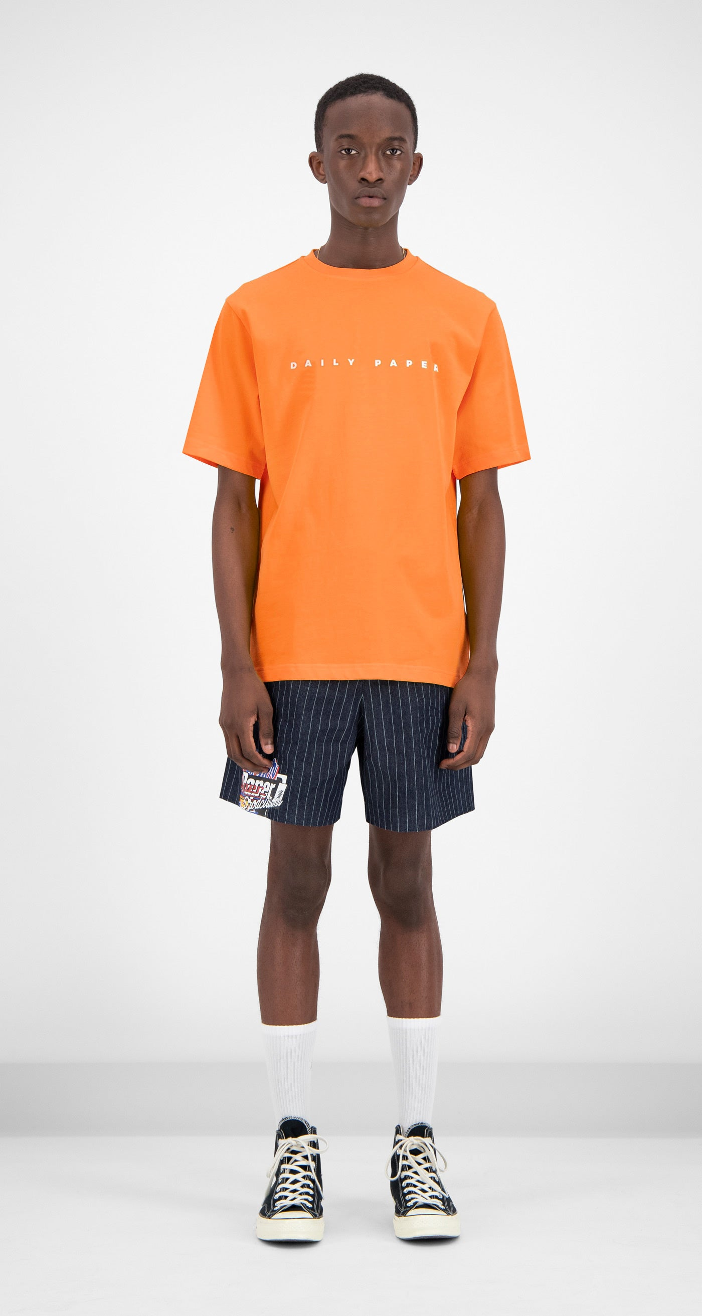 Daily Paper - Orange Alias T-shirt Men Front