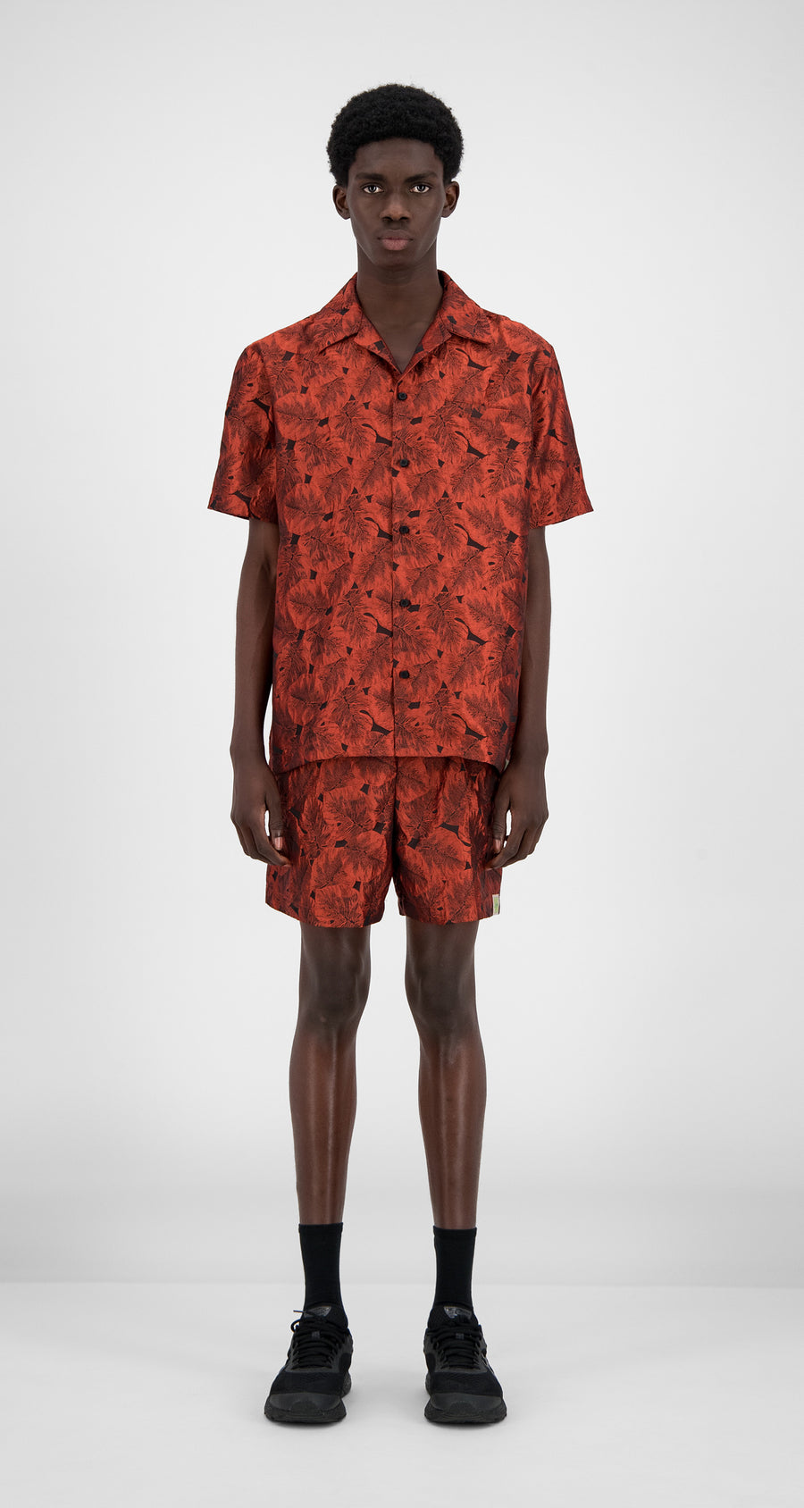 Daily Paper - Orange Flower Hajo Shirt - Men Front