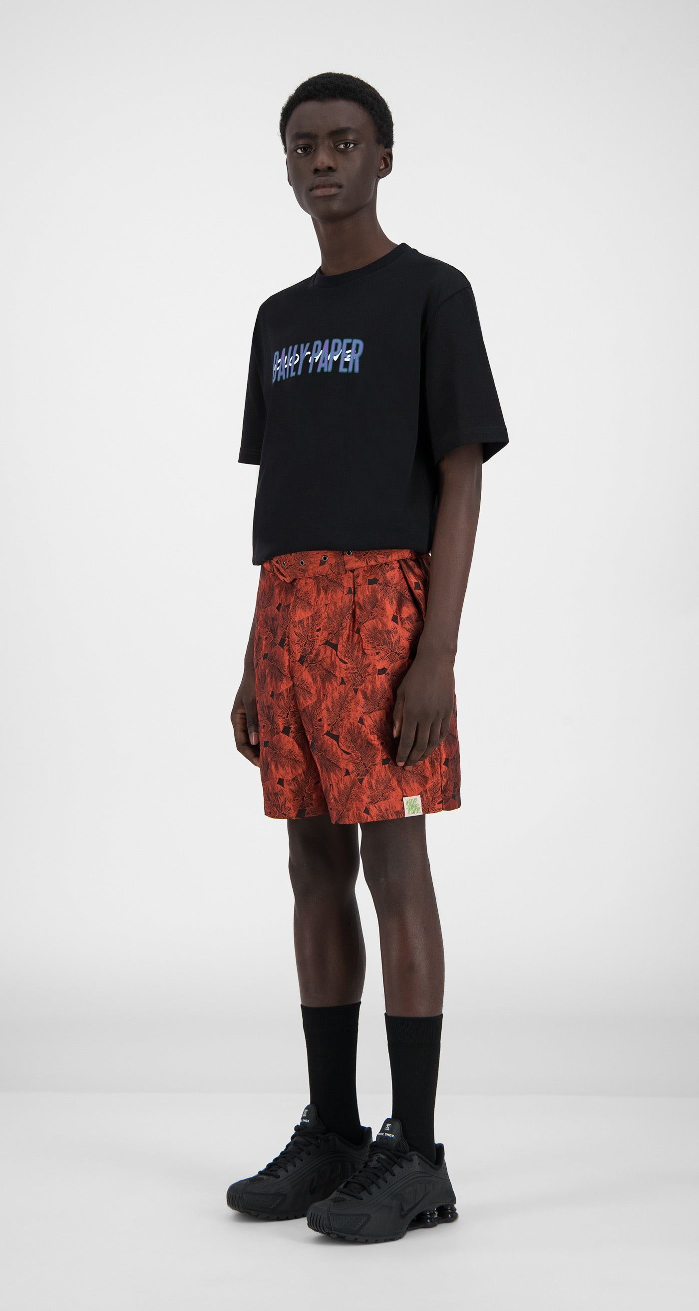 Daily Paper - Orange Flower Hori Shorts - Men