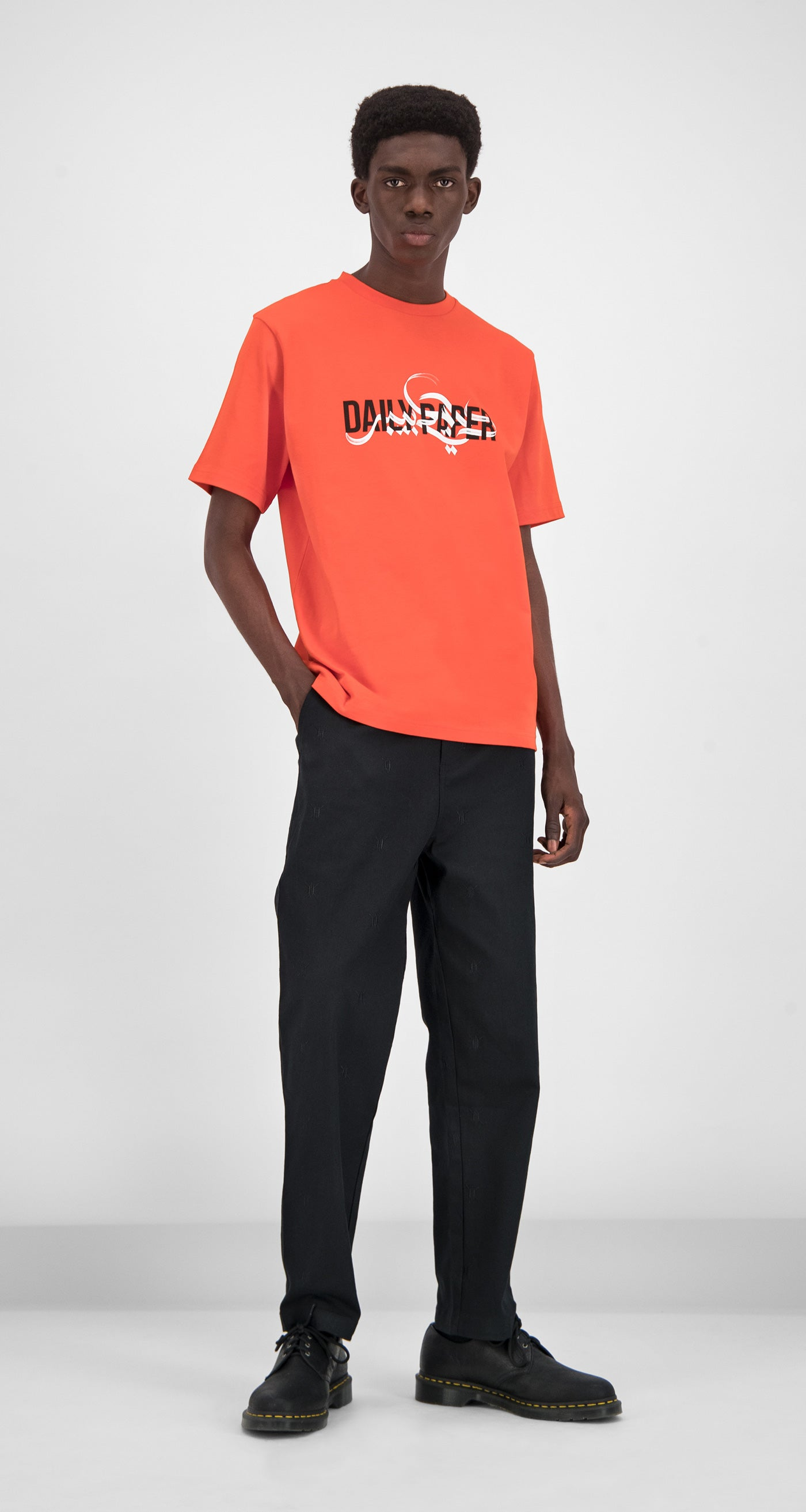 Daily Paper - Orange Gorpoin T-shirt Men Front