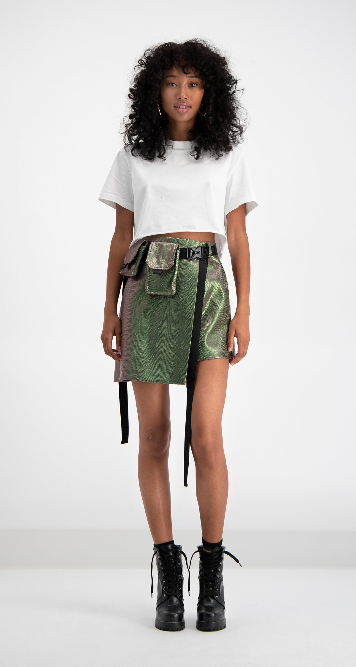 Green Snake Dlaze Skirt