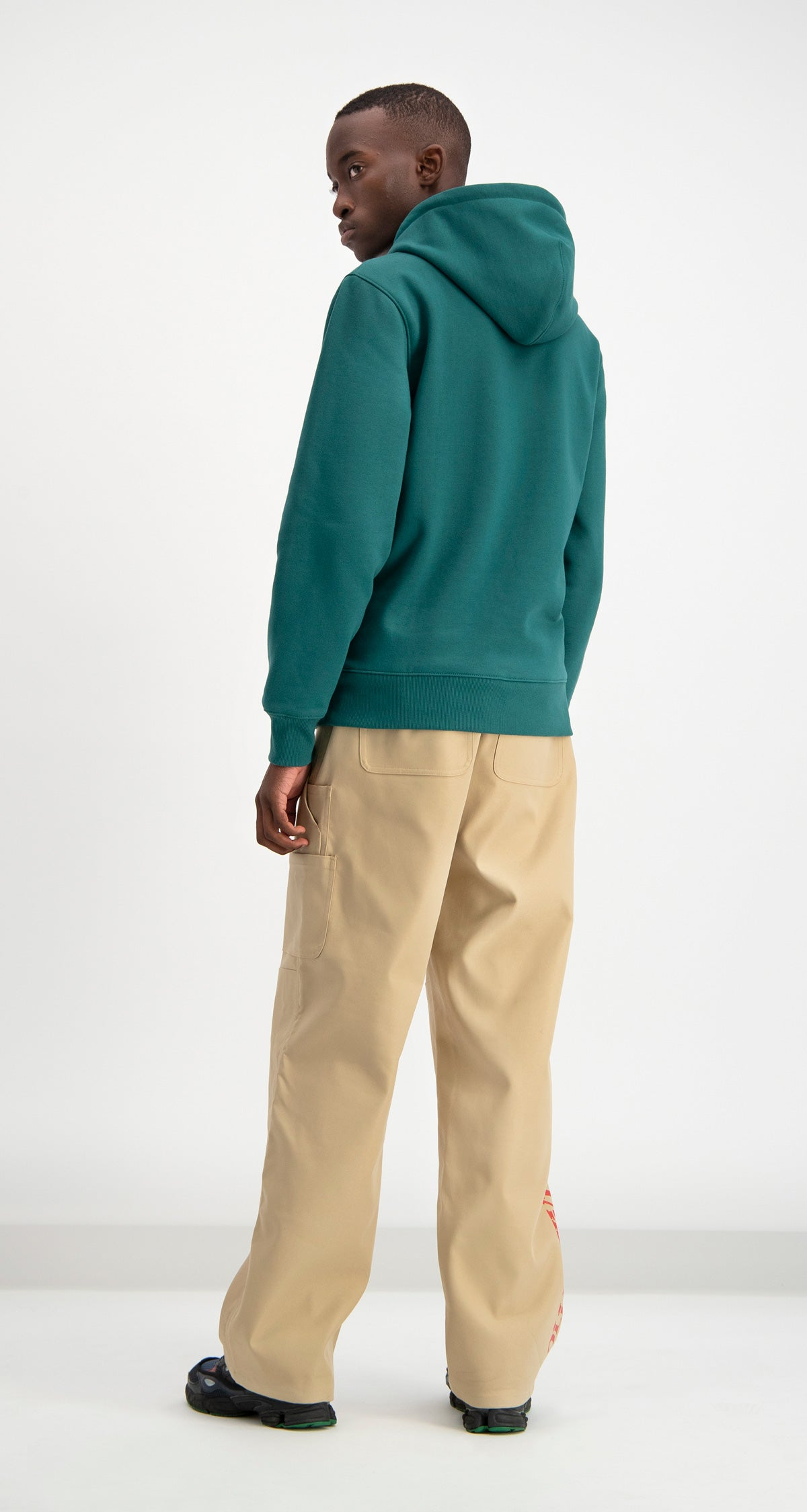 Daily Paper - Dark Green Coyar Hoody Men Rear