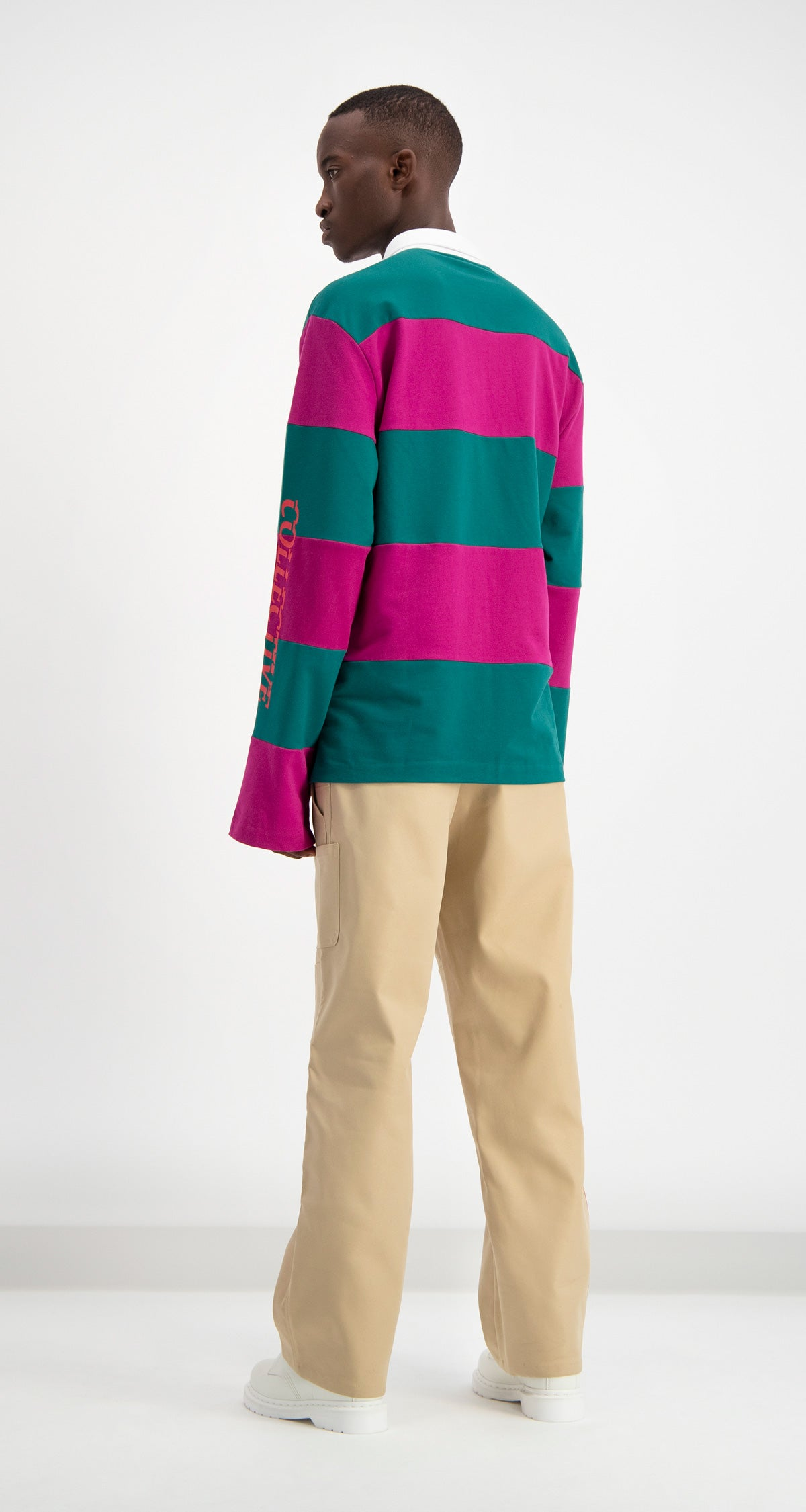 Petrol Striped Dripe Longsleeve