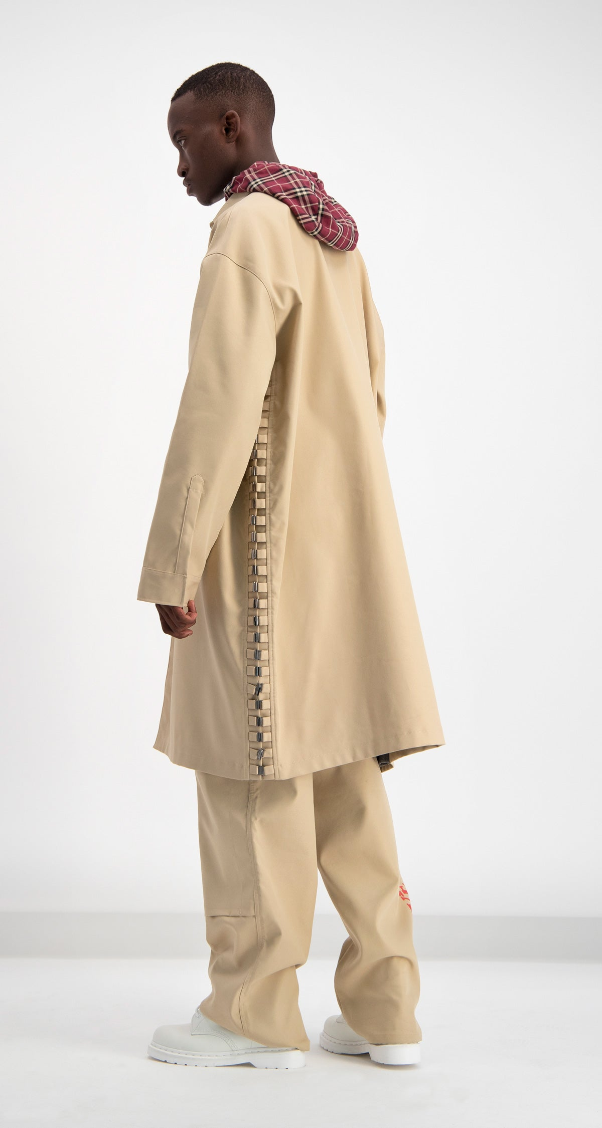 Daily Paper - Beige Drawl Jacket Men Rear