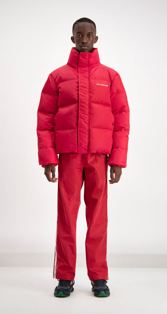 Daily Paper - Red Puffer Jacket Men Front