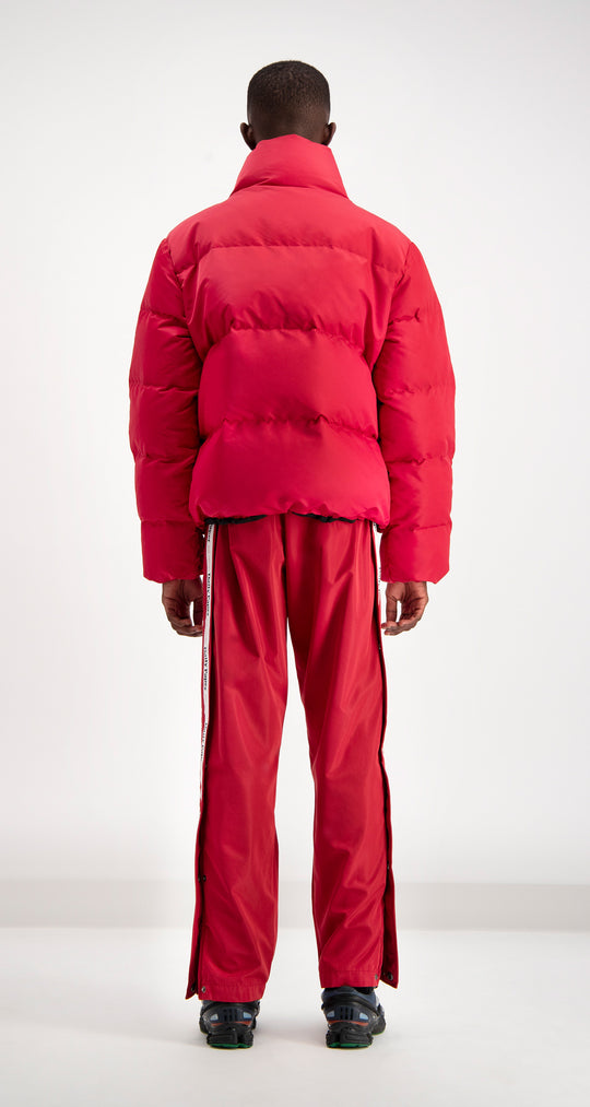 Daily Paper - Red Puffer Jacket Men Rear