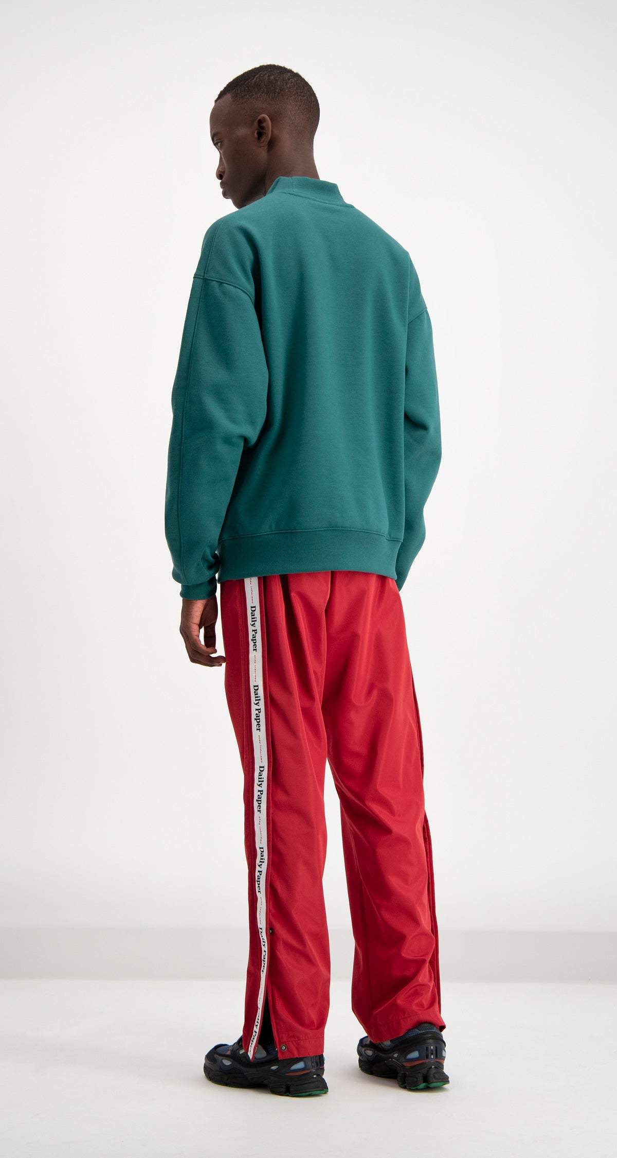Daily Paper - Dark Green Coyar Sweater Men Rear