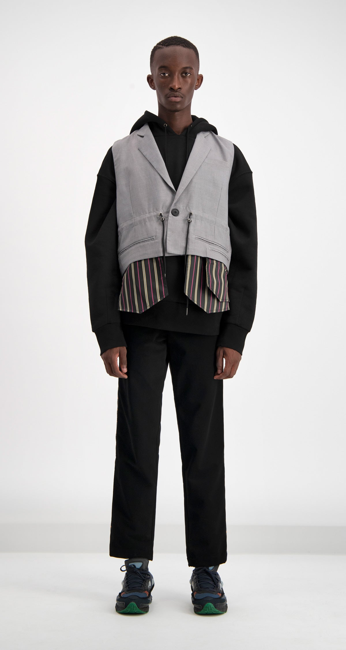 Daily Paper - Grey Disher Blazer Men Front