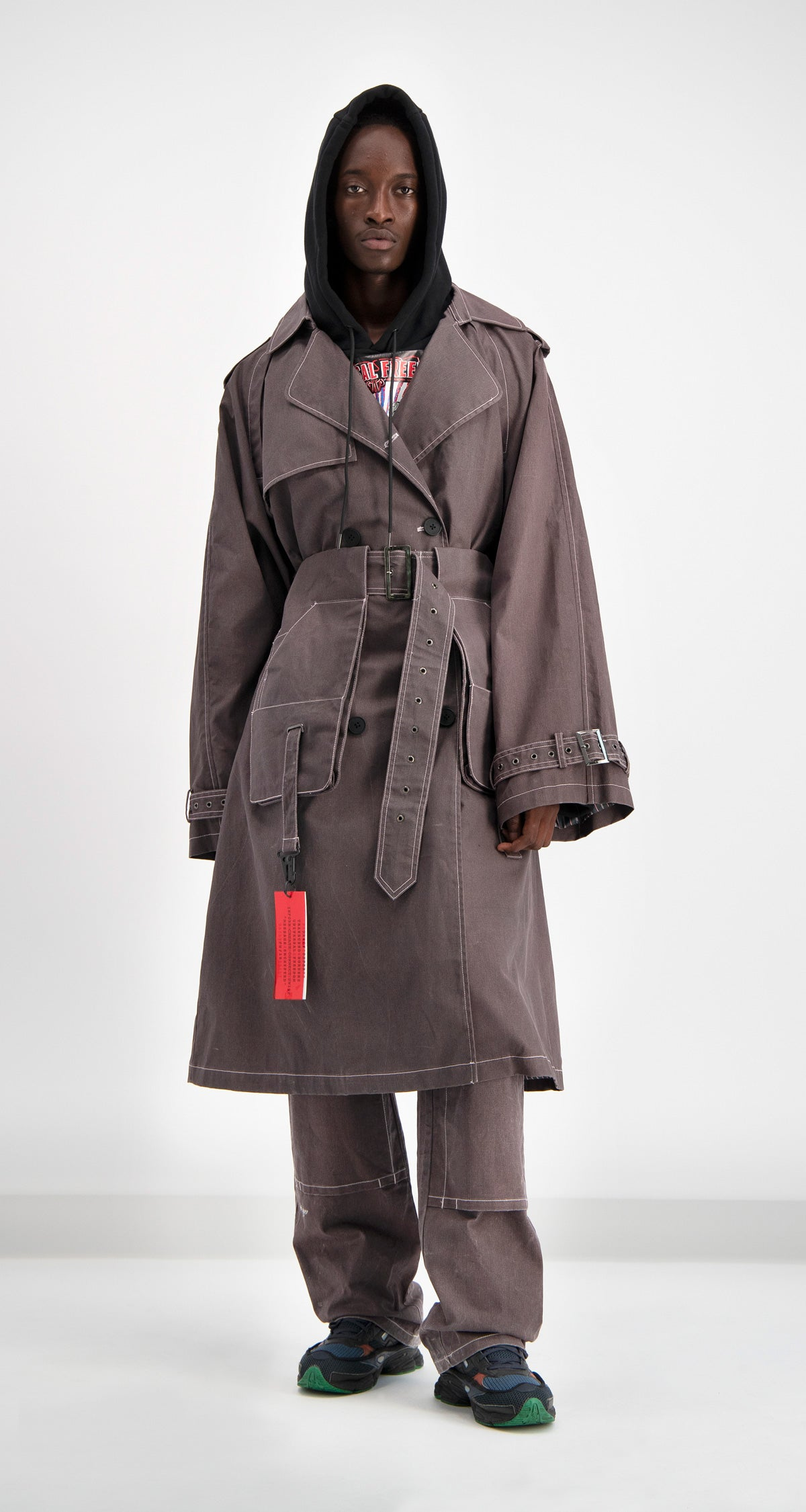 Grey Denim Dante Coat
