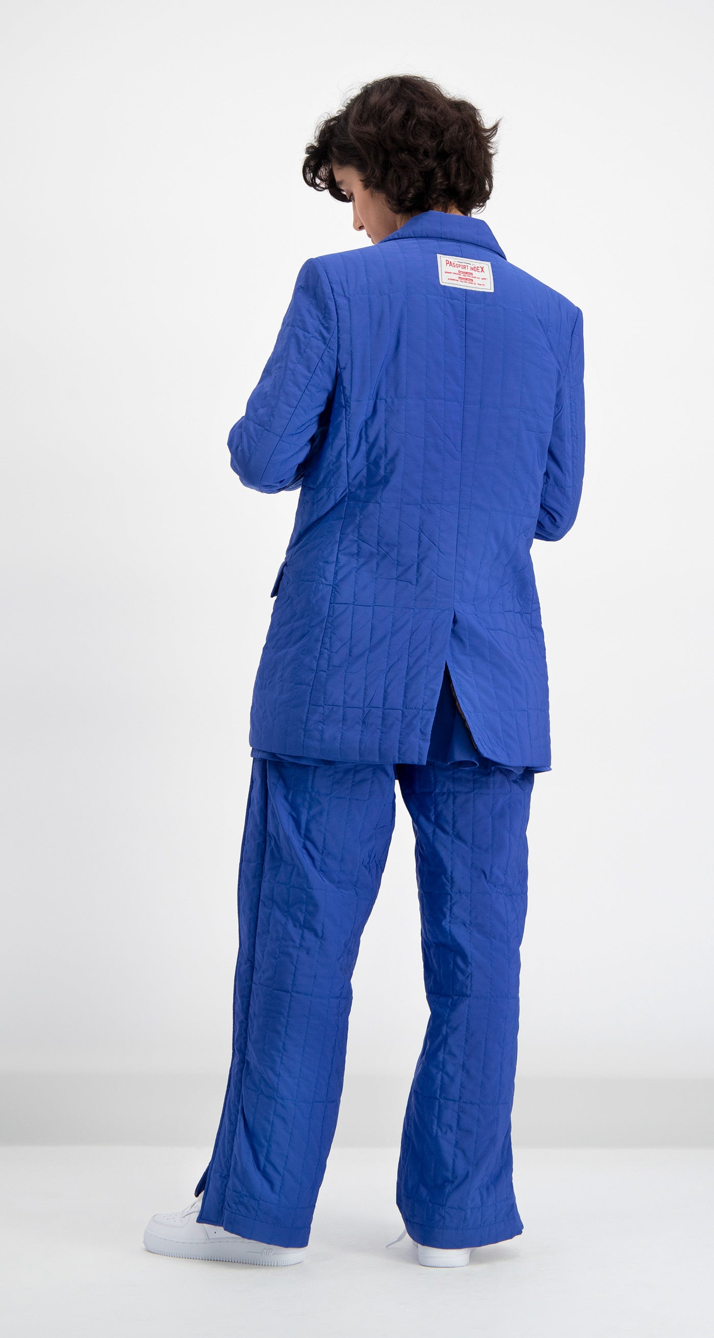 Daily Paper - Blue Padded Dia Blazer Women Rear