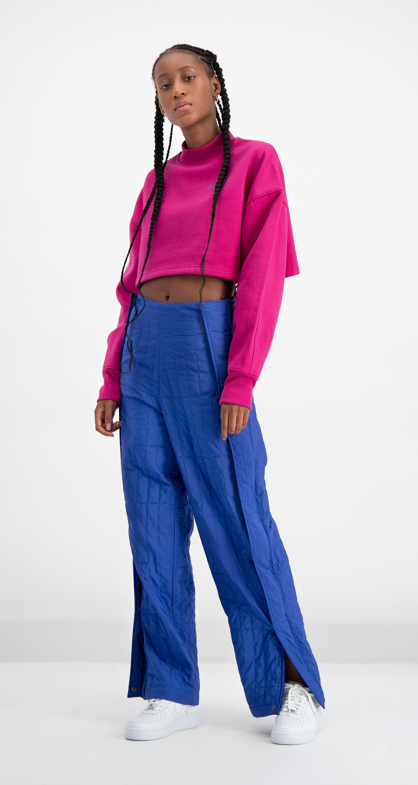 Daily Paper - Pink Cropped Dleo Sweater Women Front