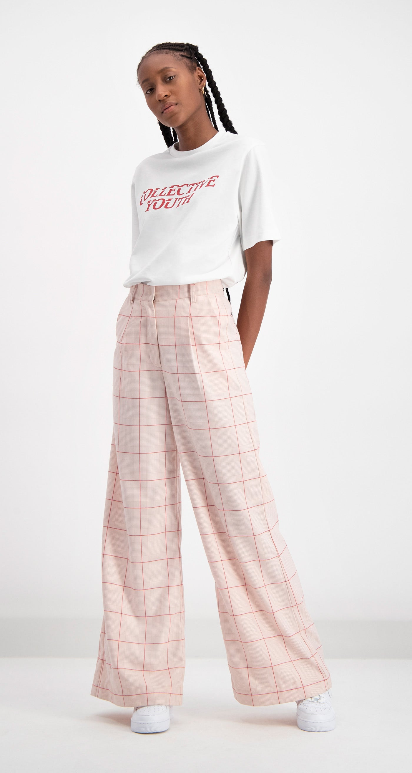 Daily Paper - Pink Checked Deck Pants Women