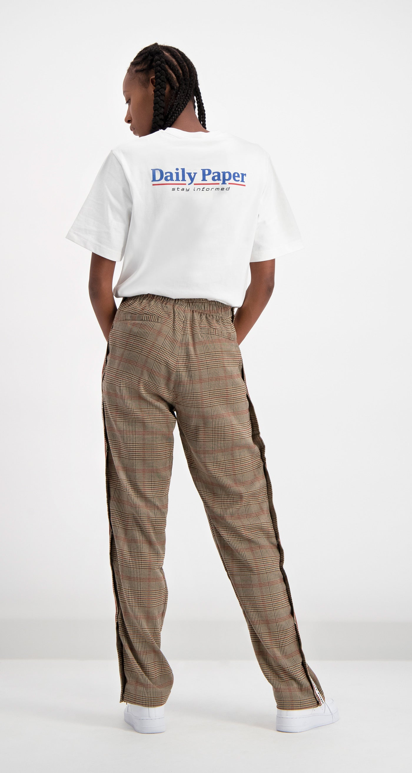 Daily Paper - Brown Checked Dezip Pants