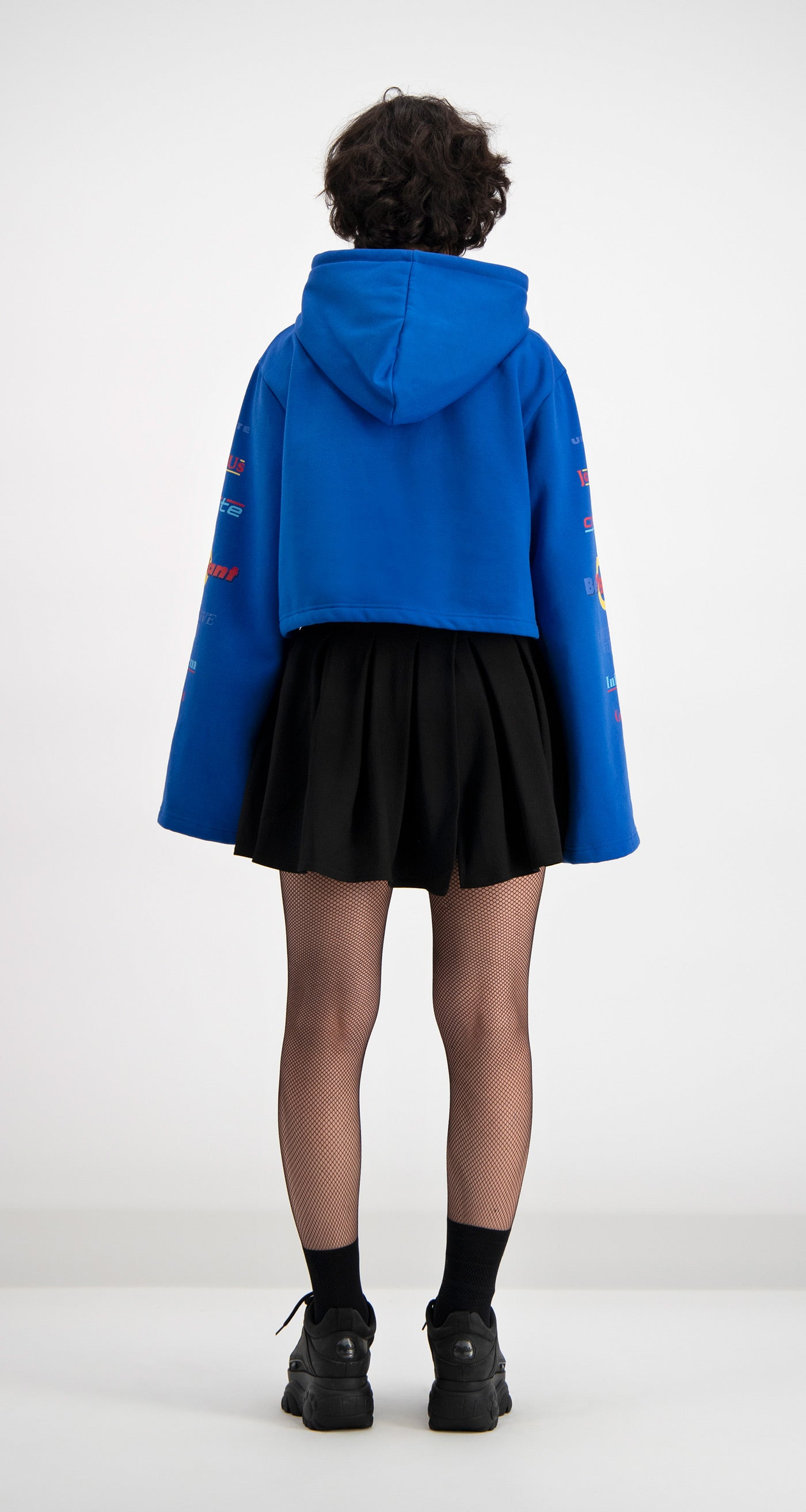Daily Paper - Blue Cropped Dello Hoody