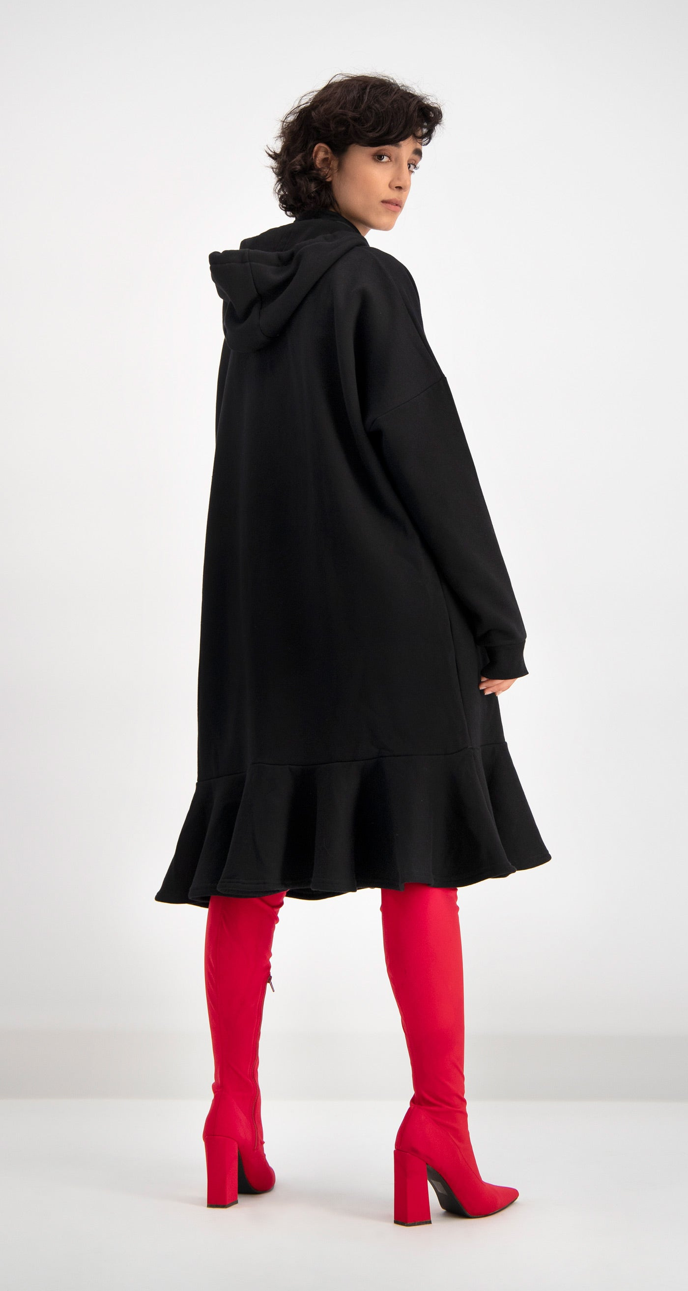 Daily Paper - Black Dounce Hooded Dress