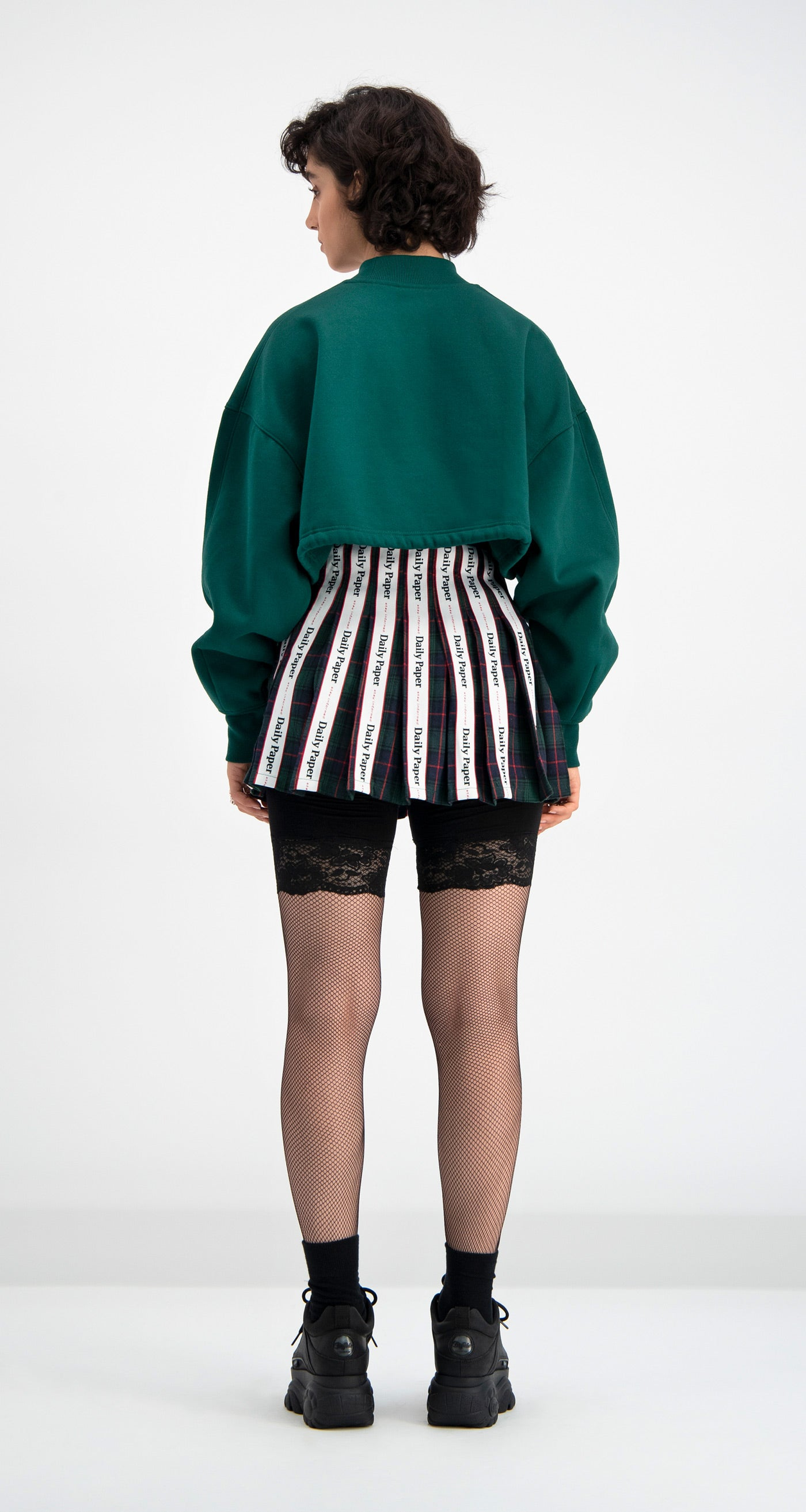 Green Cropped Dleodraw Sweater