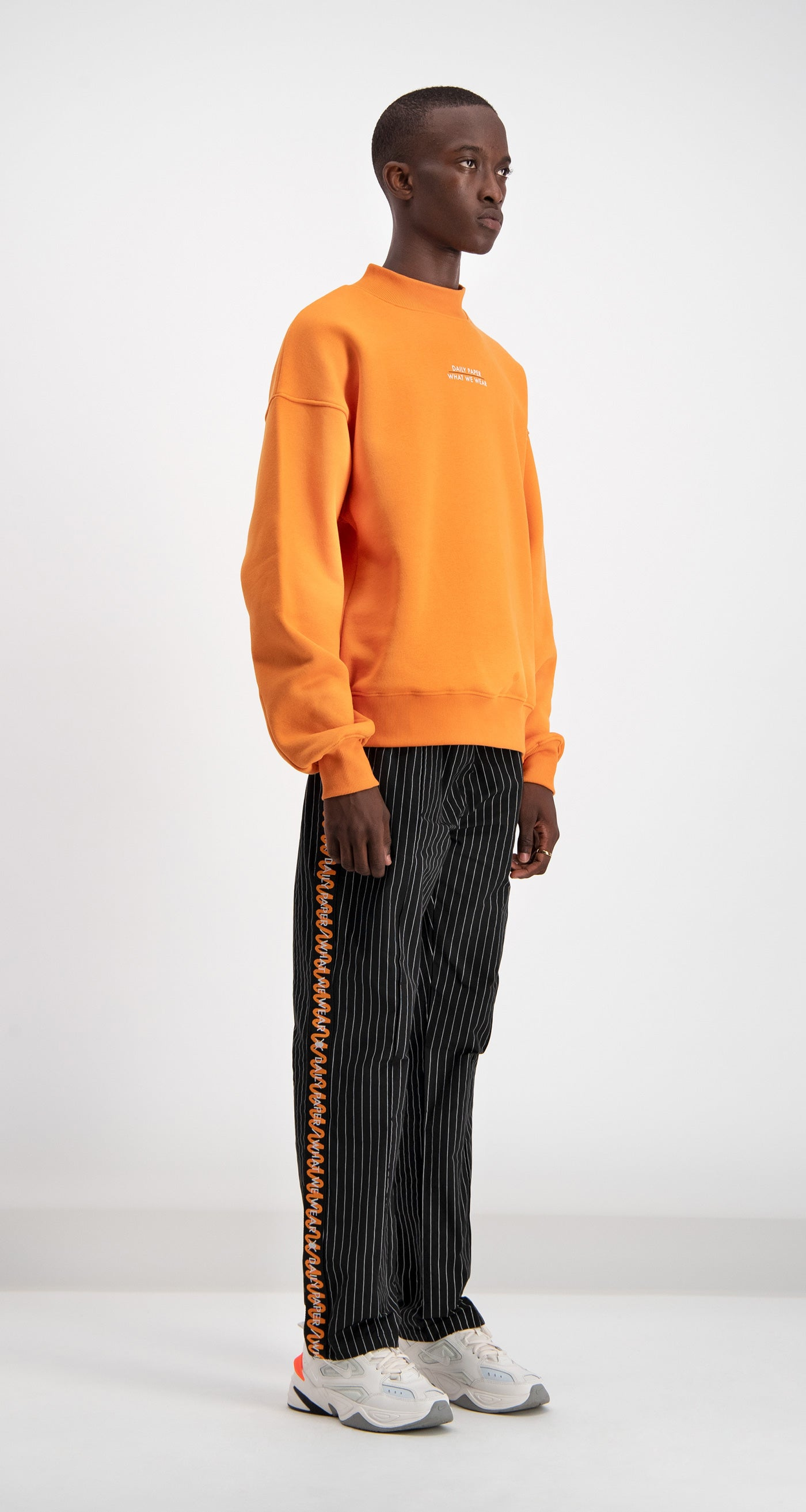 Orange Daily Paper x WWW Logo Sweater