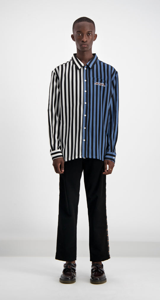 Daily Paper - Striped Disi Logo Shirt Men Front