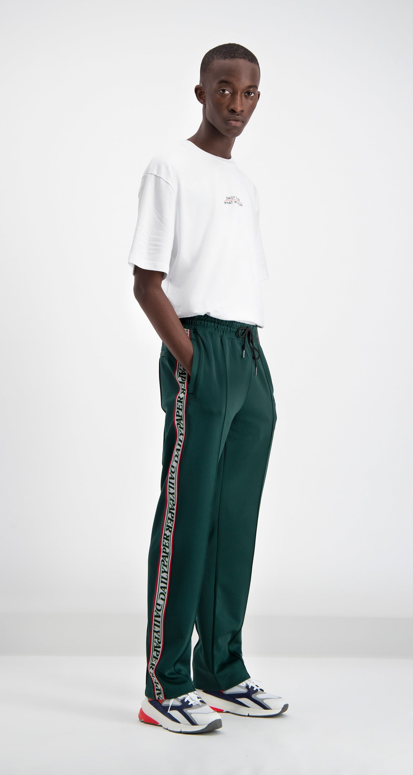 Daily Paper - Green Liba Track Pants Men Front