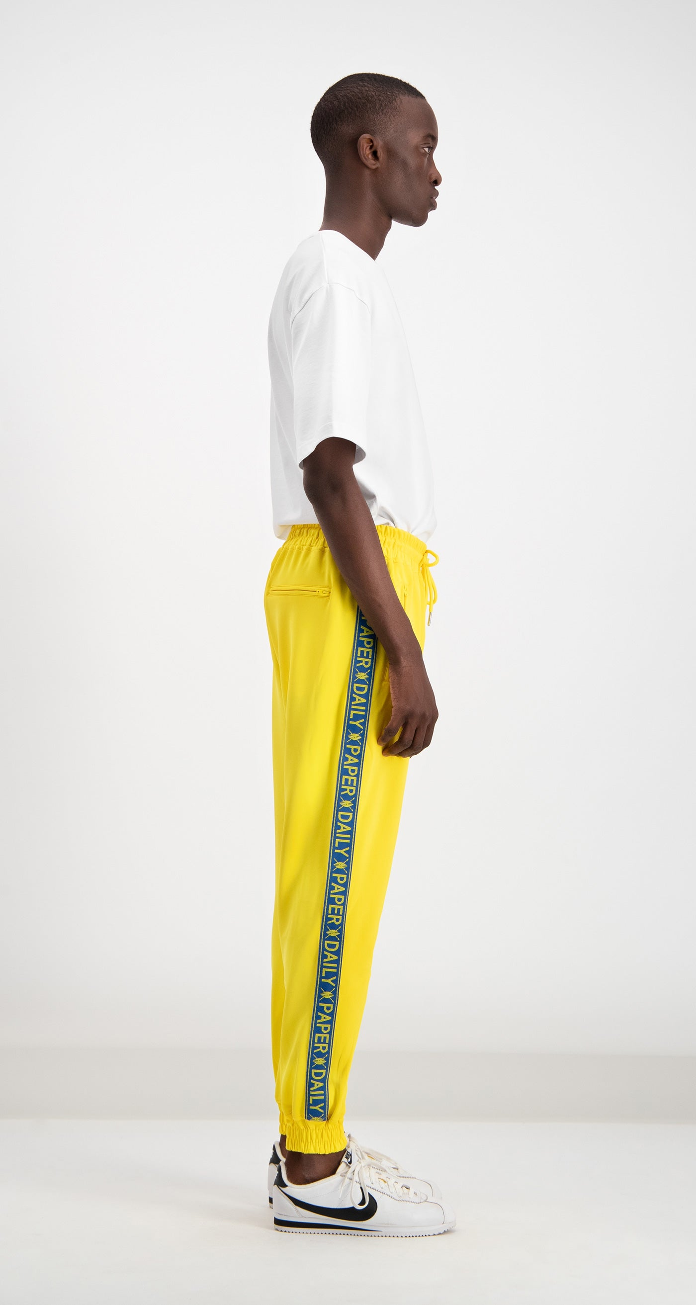 Daily Paper - Yellow/Blue Track Pants Men Rear