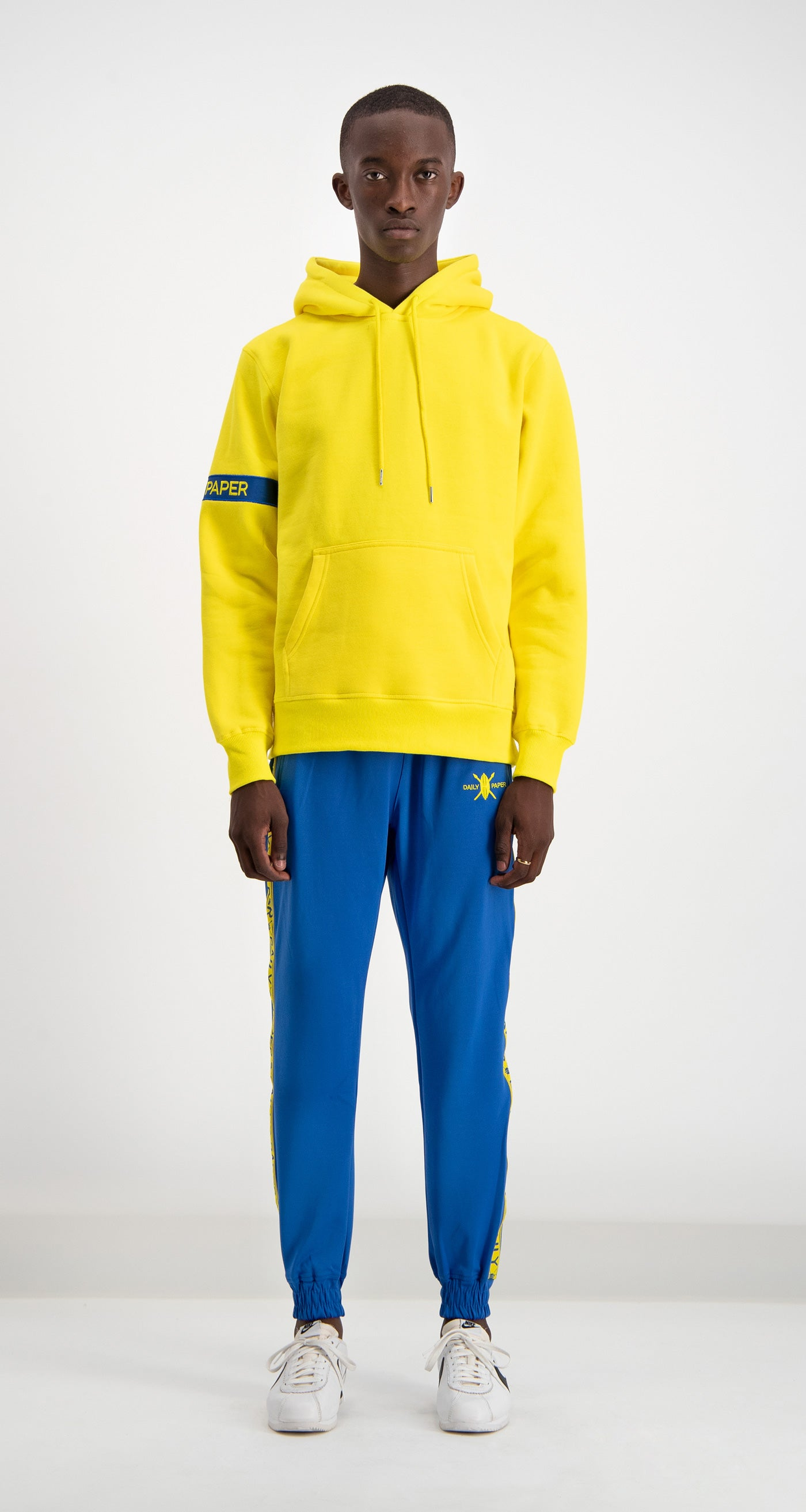 Daily Paper - Yellow/Blue Captain Hoody Men