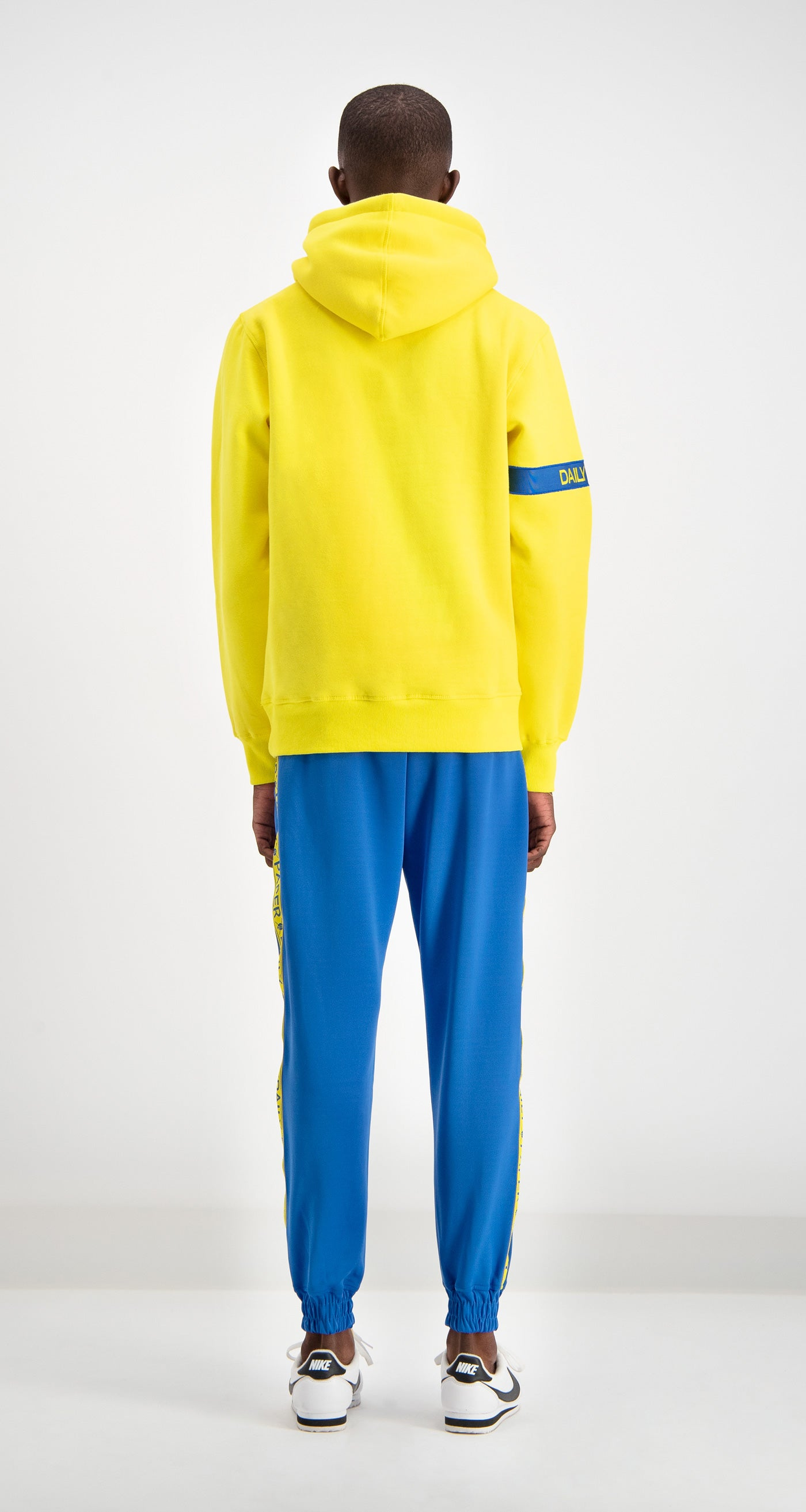 Daily Paper - Yellow/Blue Captain Hoody Men Rear