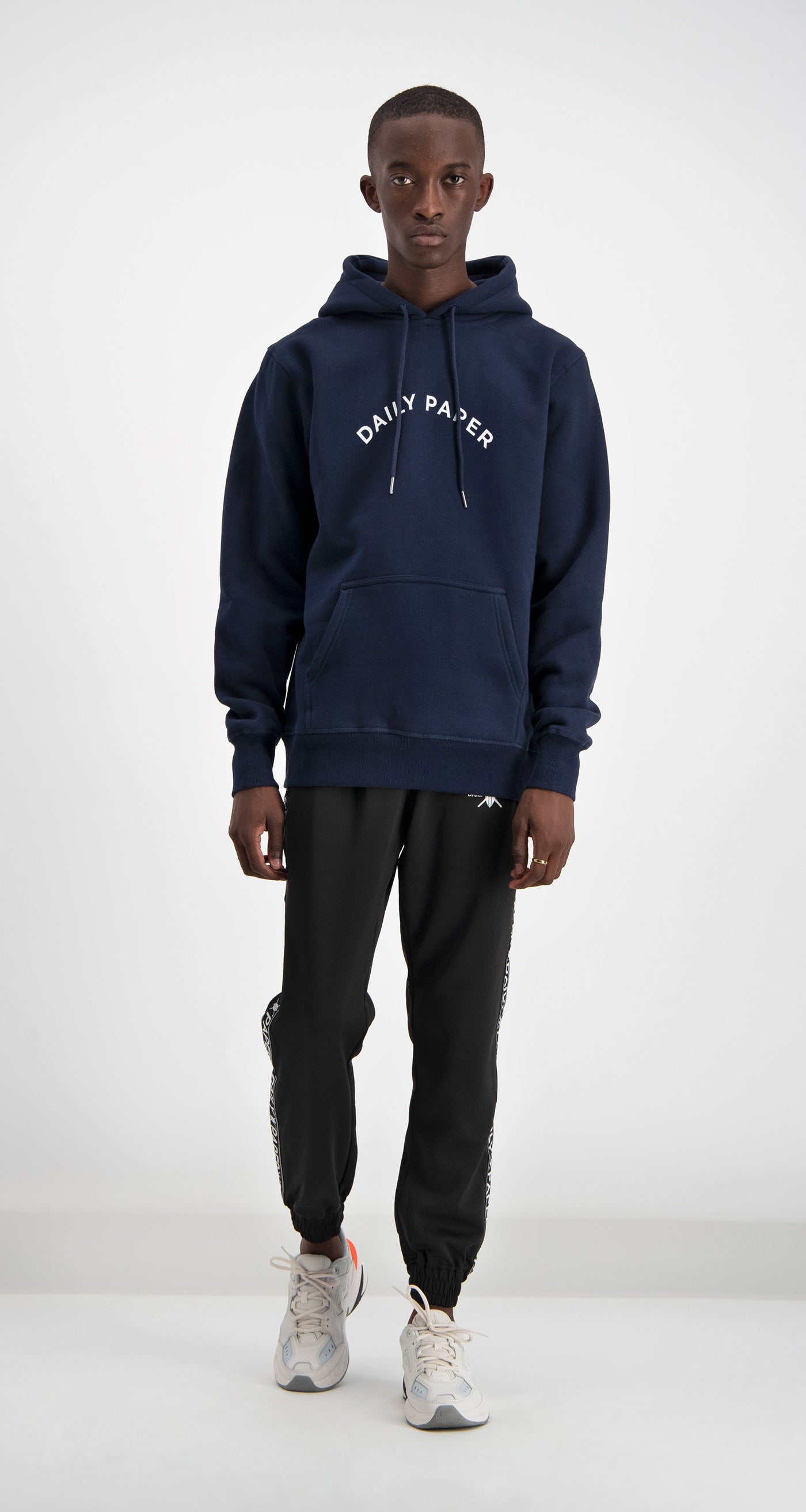 Navy Arc Logo Hoody